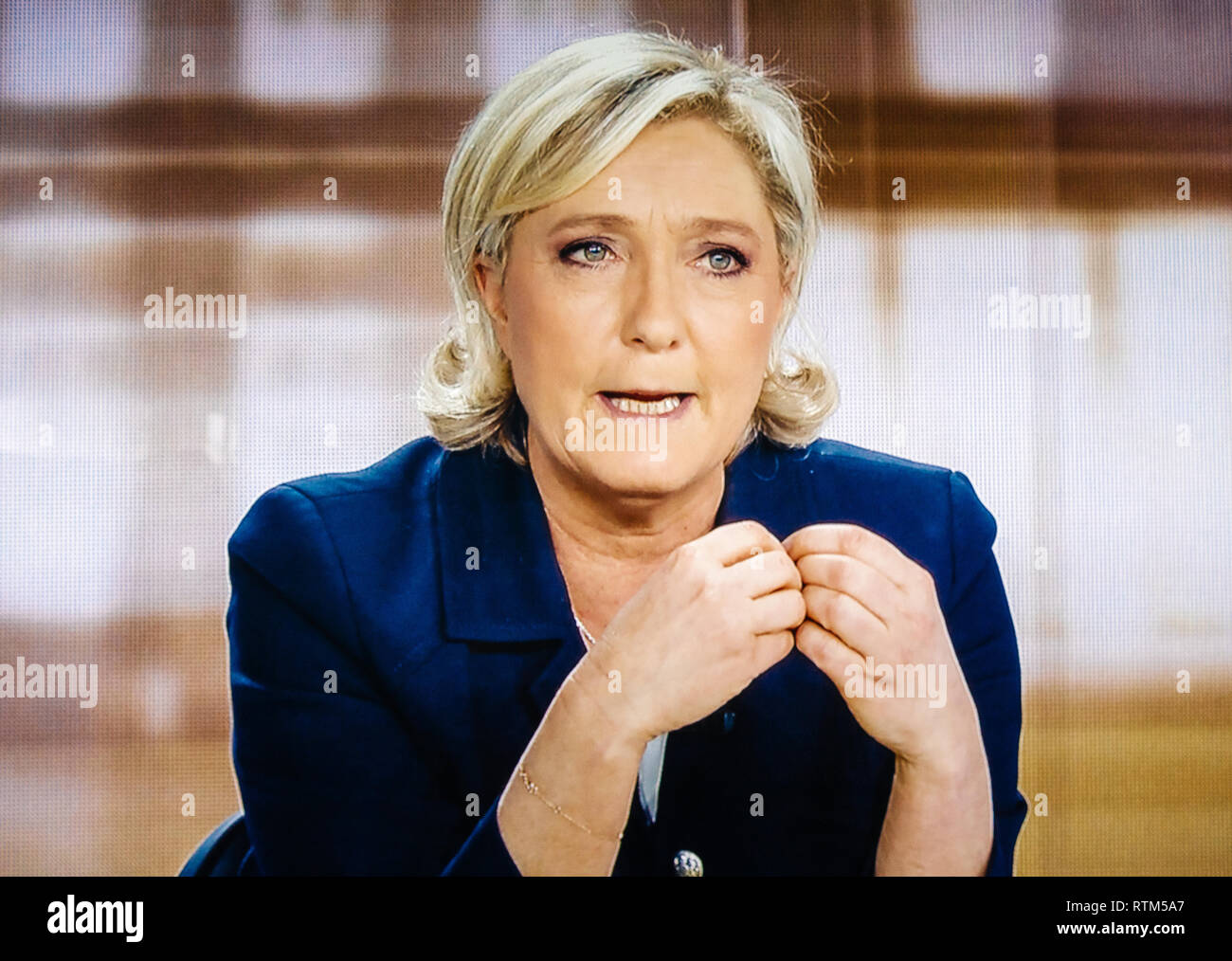 French Television News Stock Photos & French Television News Stock