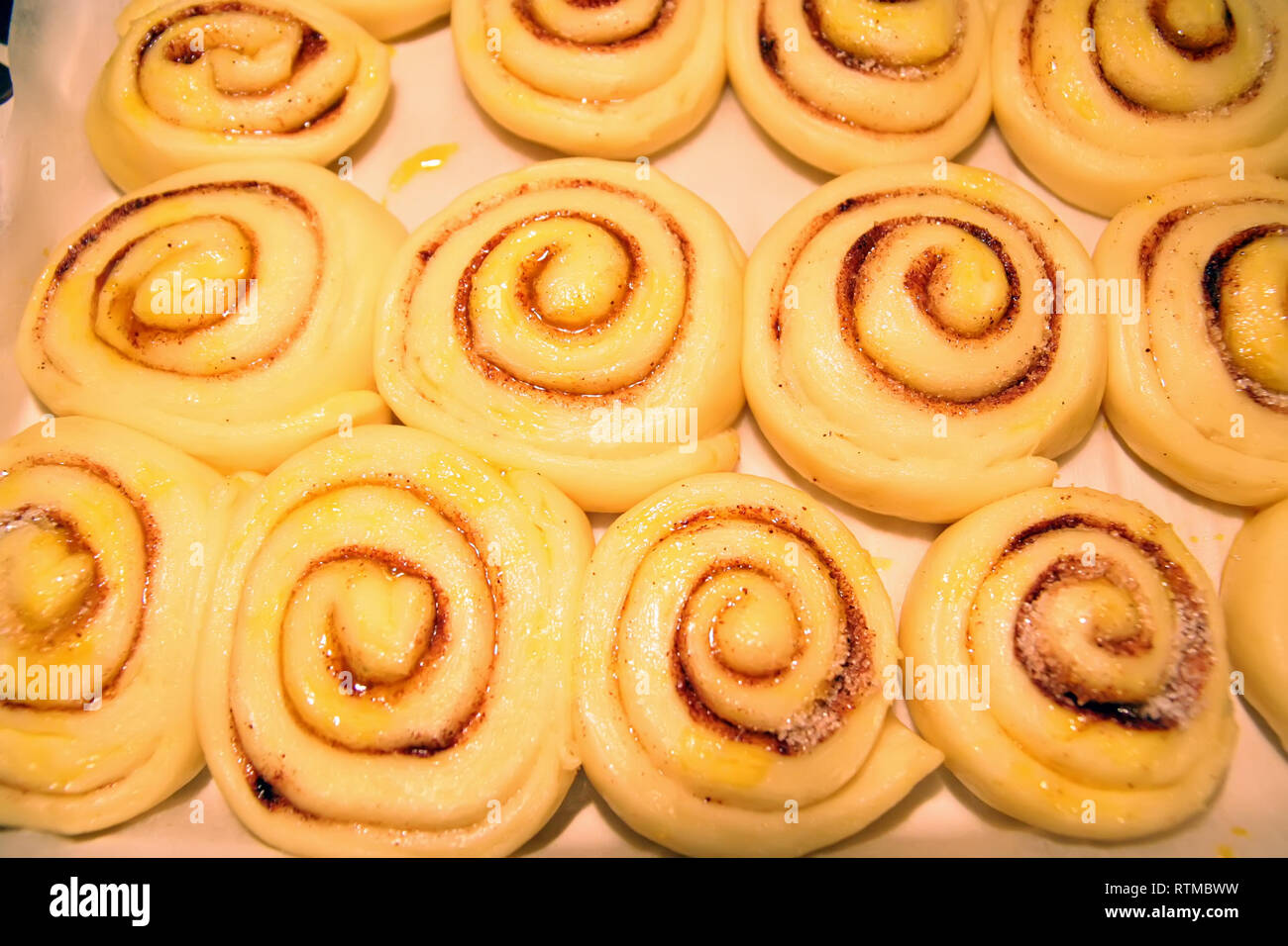 Home made cookies. Preparing homemade cookies. Fresh made breakfast. Baking home cookies. - Stock Image