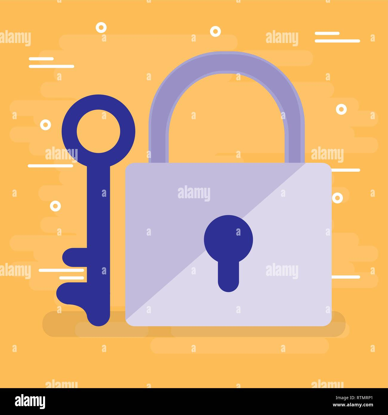 safe secure padlock icon vector illustration design - Stock Image