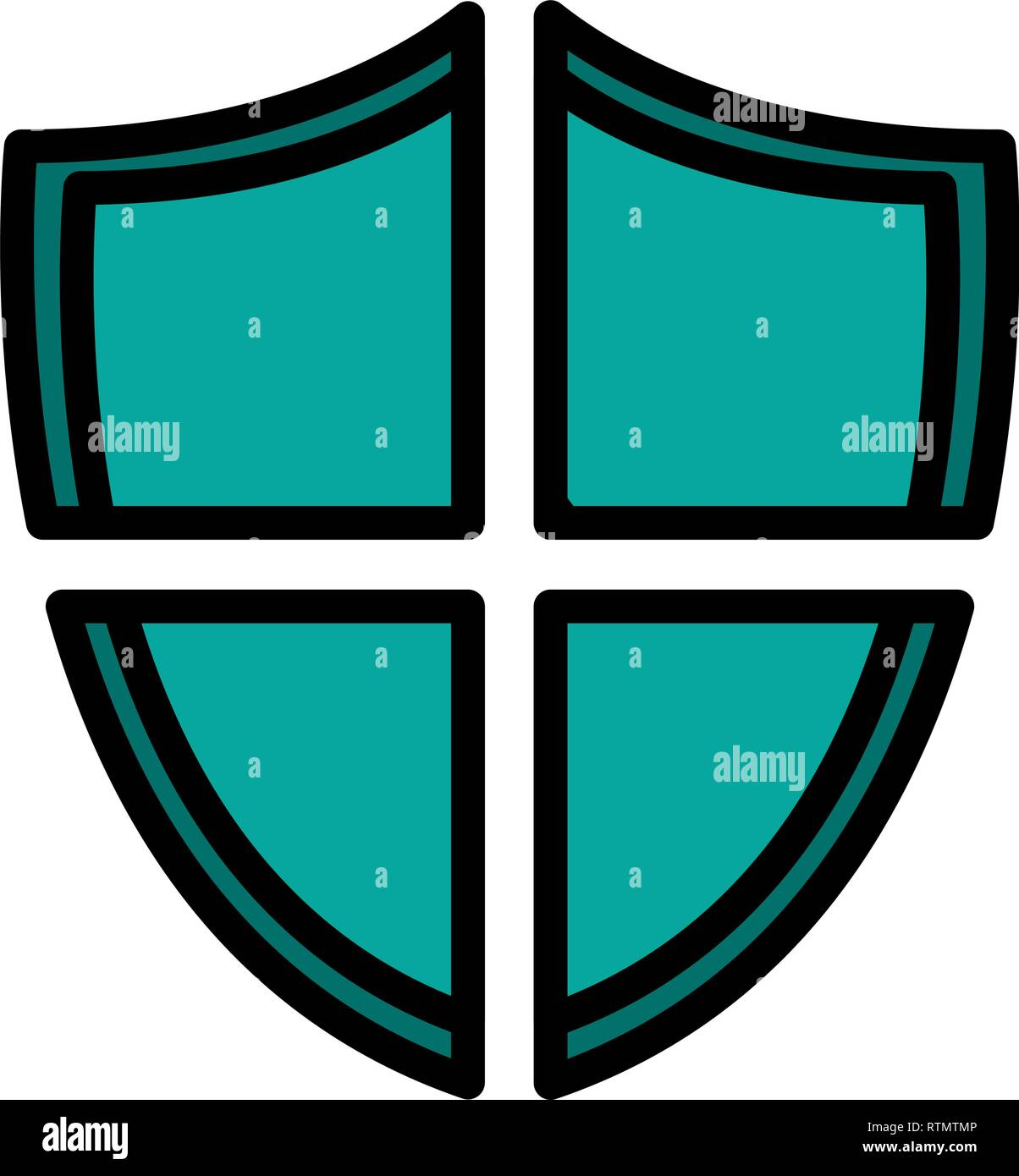 shield security isolated icon vector illustration design - Stock Image
