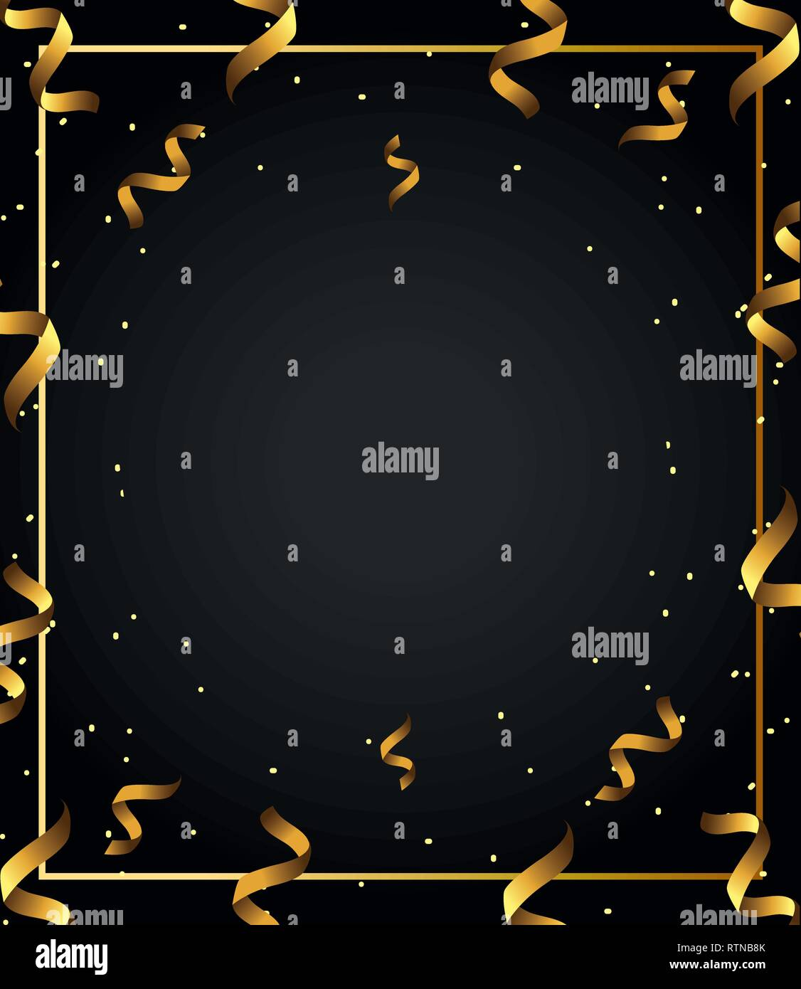 gold swirls background pattern - Stock Image