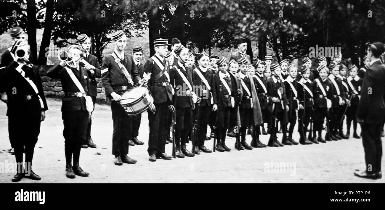 Boys Brigade, Victorian period - Stock Image