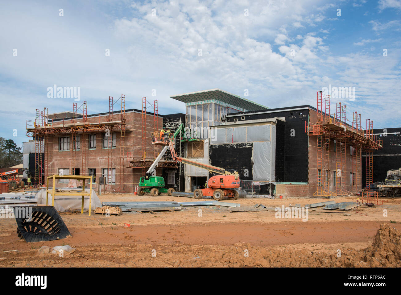 Maxwell AFB, Ala. - Progress photos of on going construction at school on Maxwell AFB (U.S. Air Force photo by William Birchfield/Released) - Stock Image