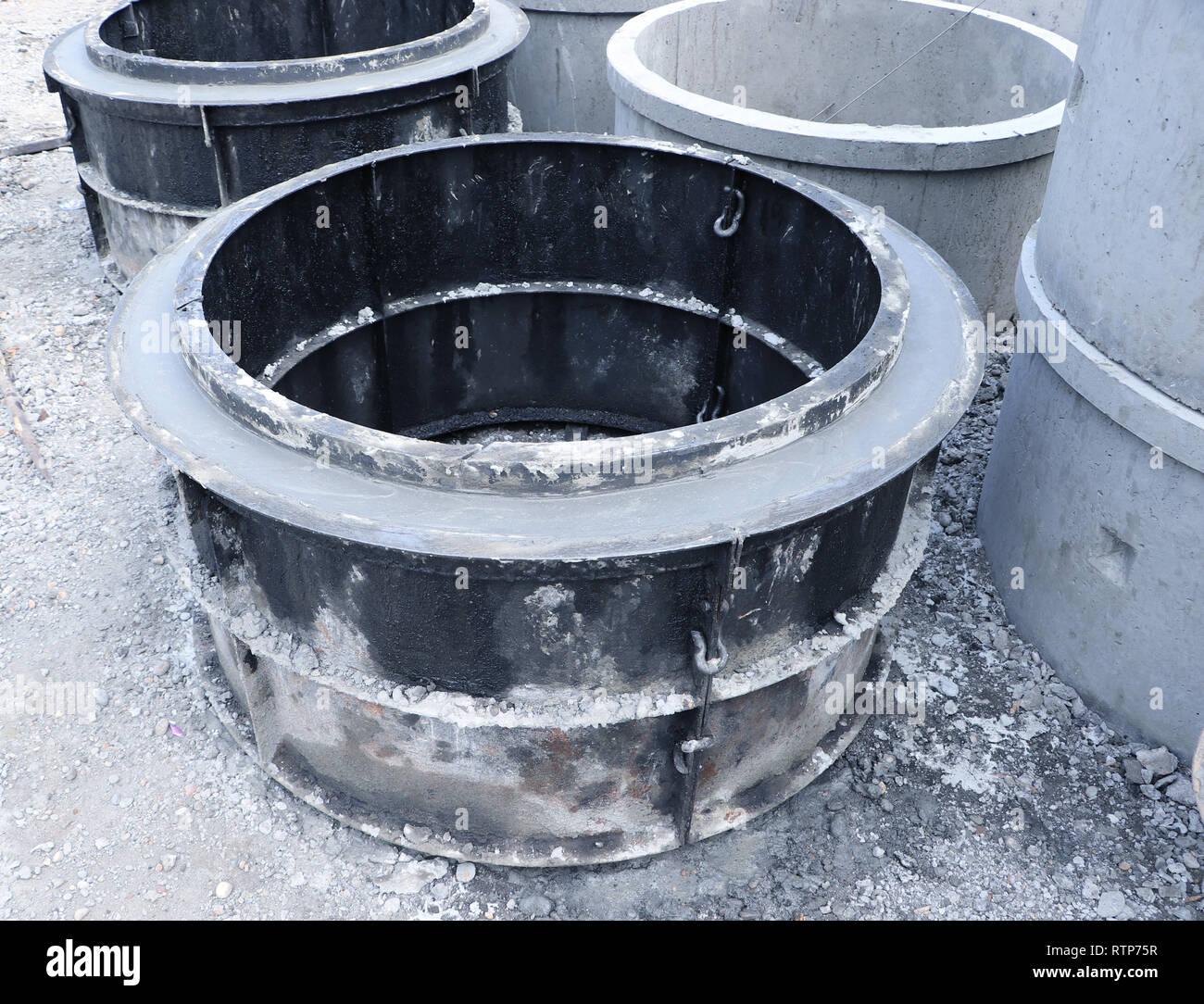 Precast Concrete Pipes Stock Photos & Precast Concrete Pipes