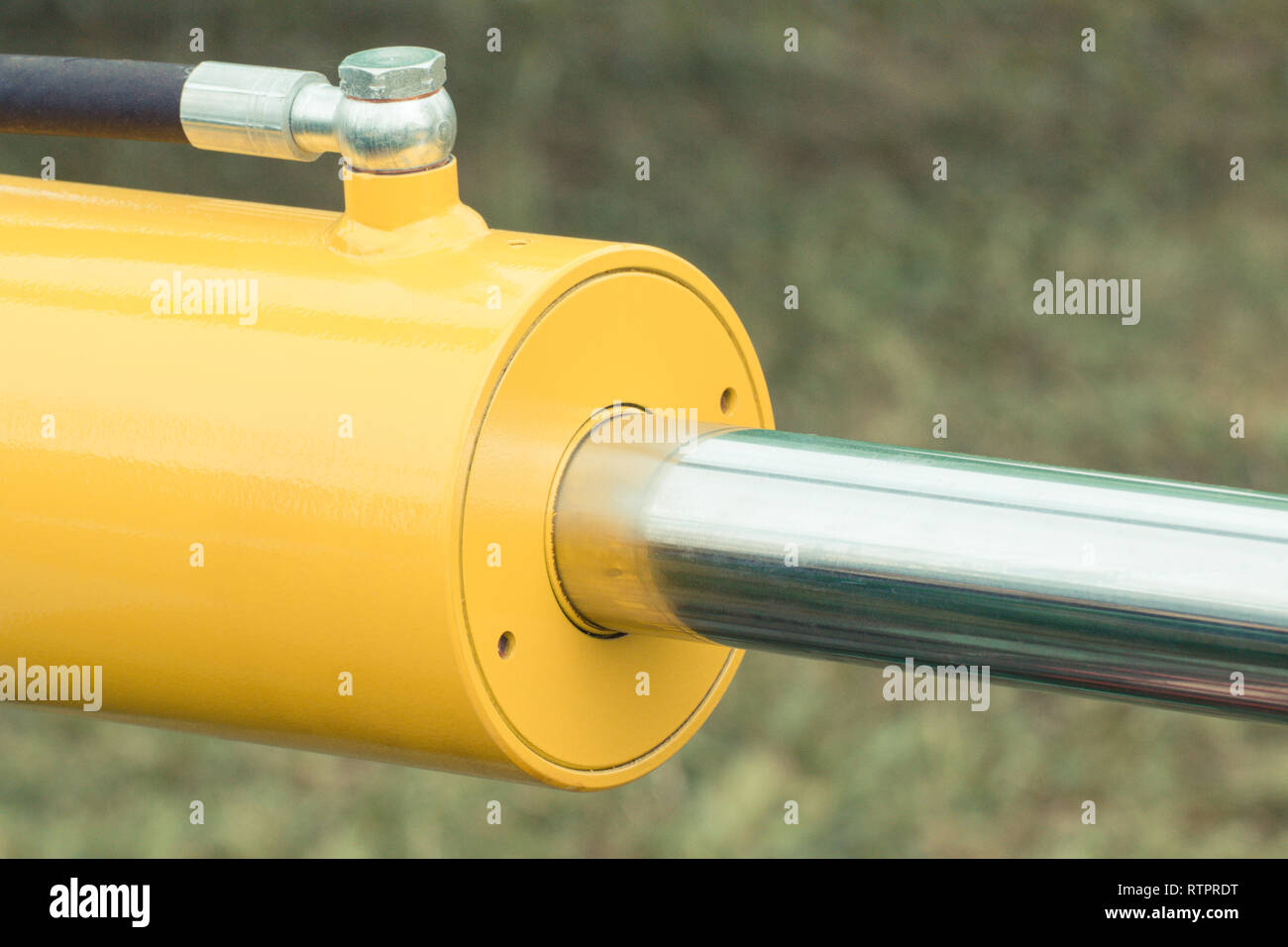 Detail and part of industrial hydraulic or pneumatic