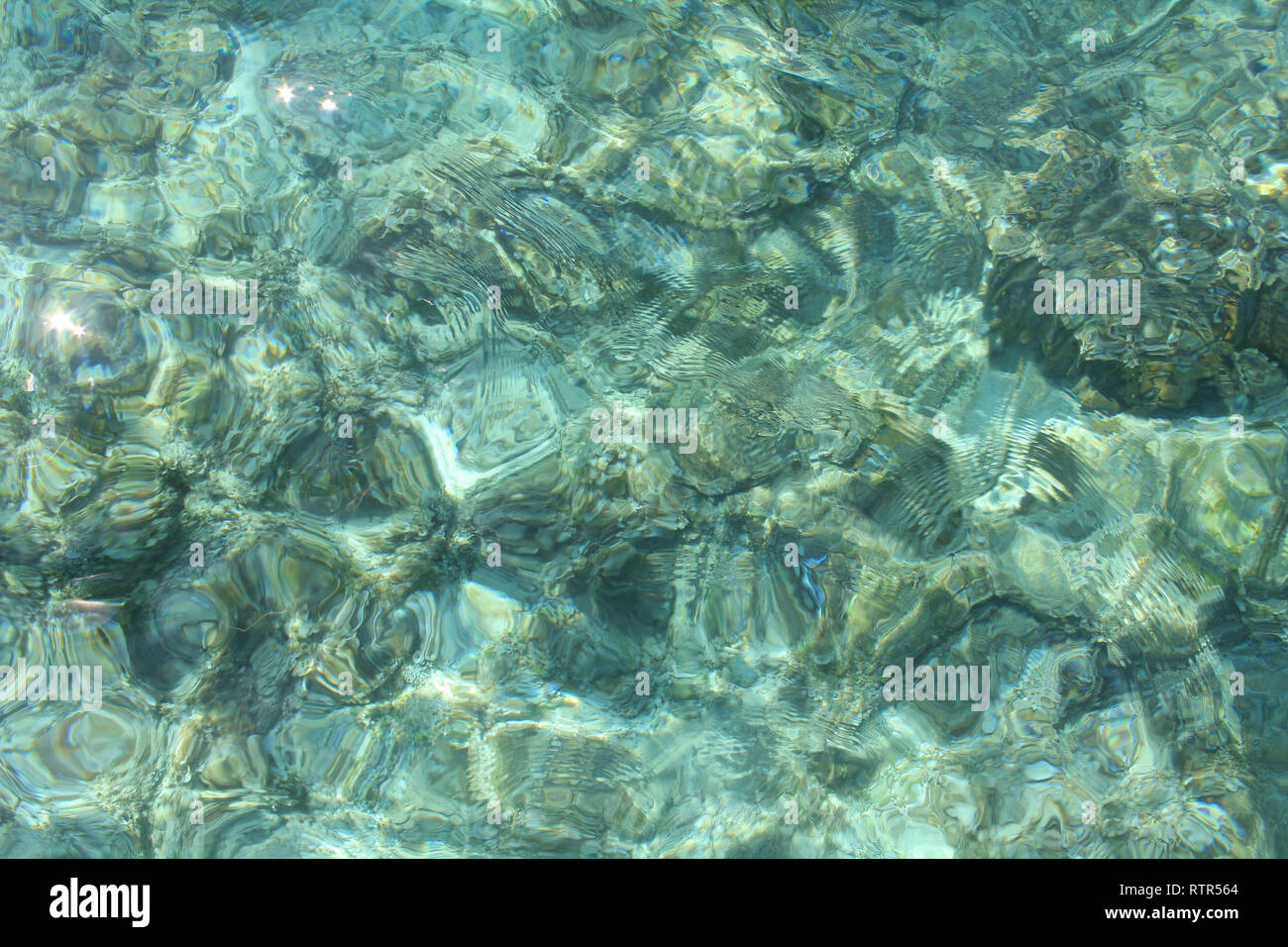 Shimmering Sea in the Shallows - Stock Image