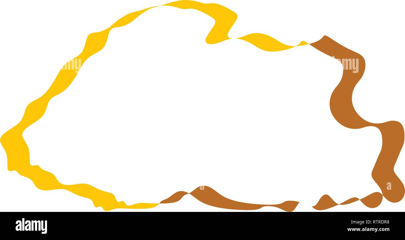 bhutan map icon vector sign element - Stock Vector