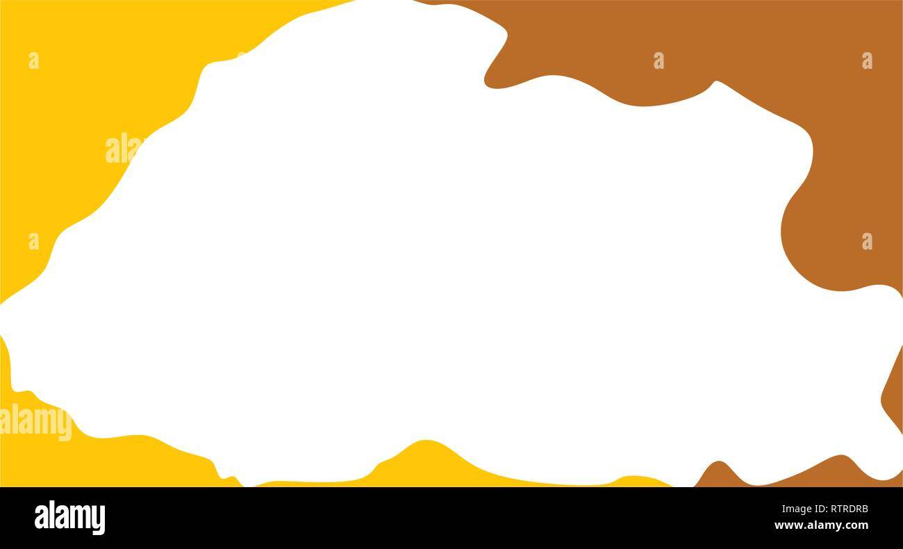bhutan map logo icon vector design - Stock Vector