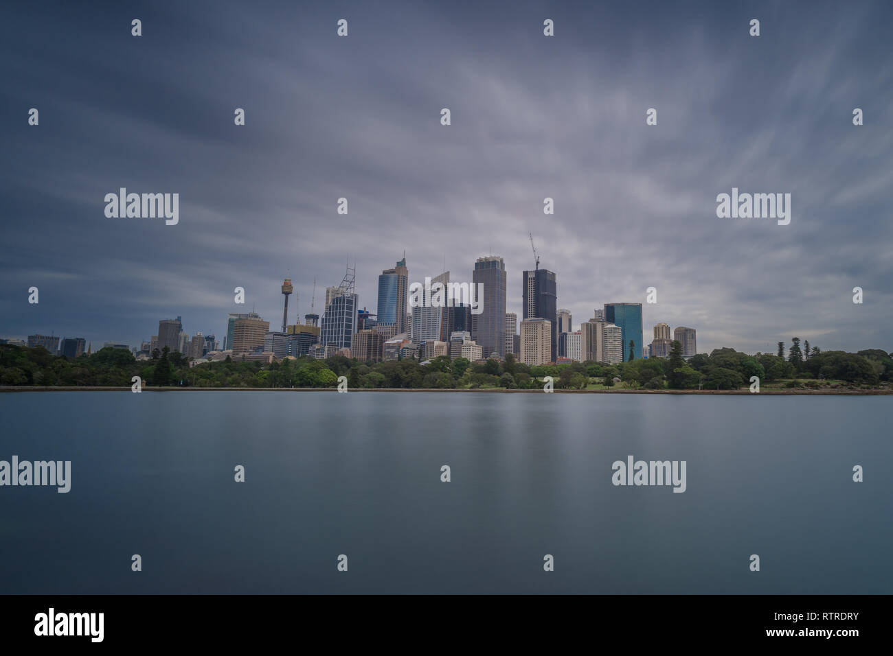 Cloudy skyline of Sydney - Stock Image