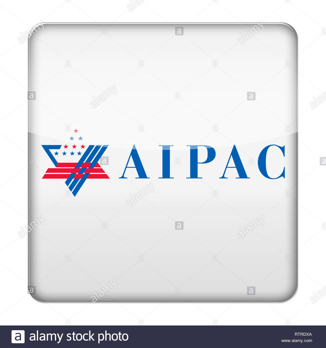American Israel Public Affairs Committee AIPAC logo - Stock Image