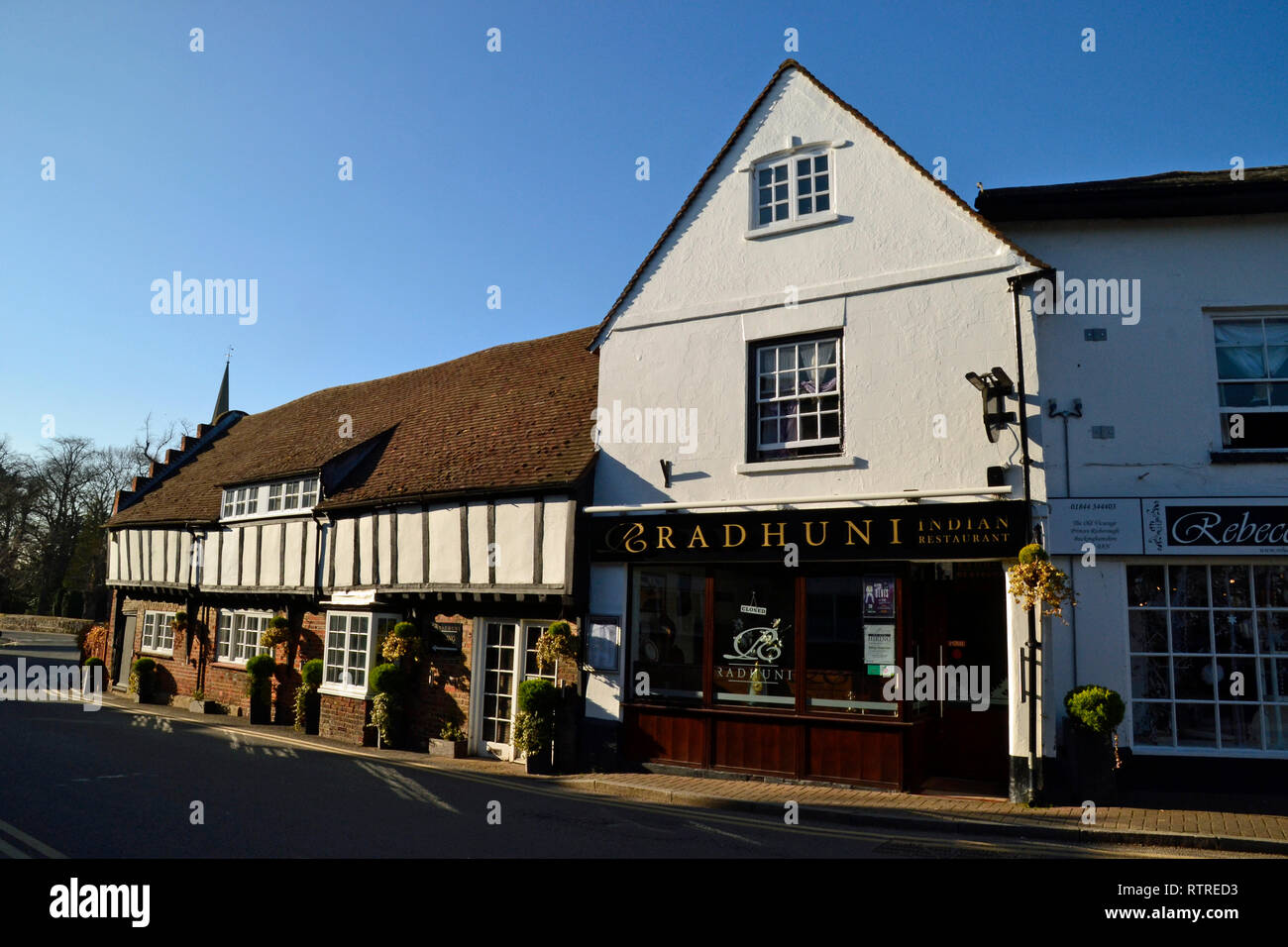 Radhuni Indian Restaurant, in The Old Library, Church Street, Princes Risborough, Buckinghamshire, UK - Stock Image