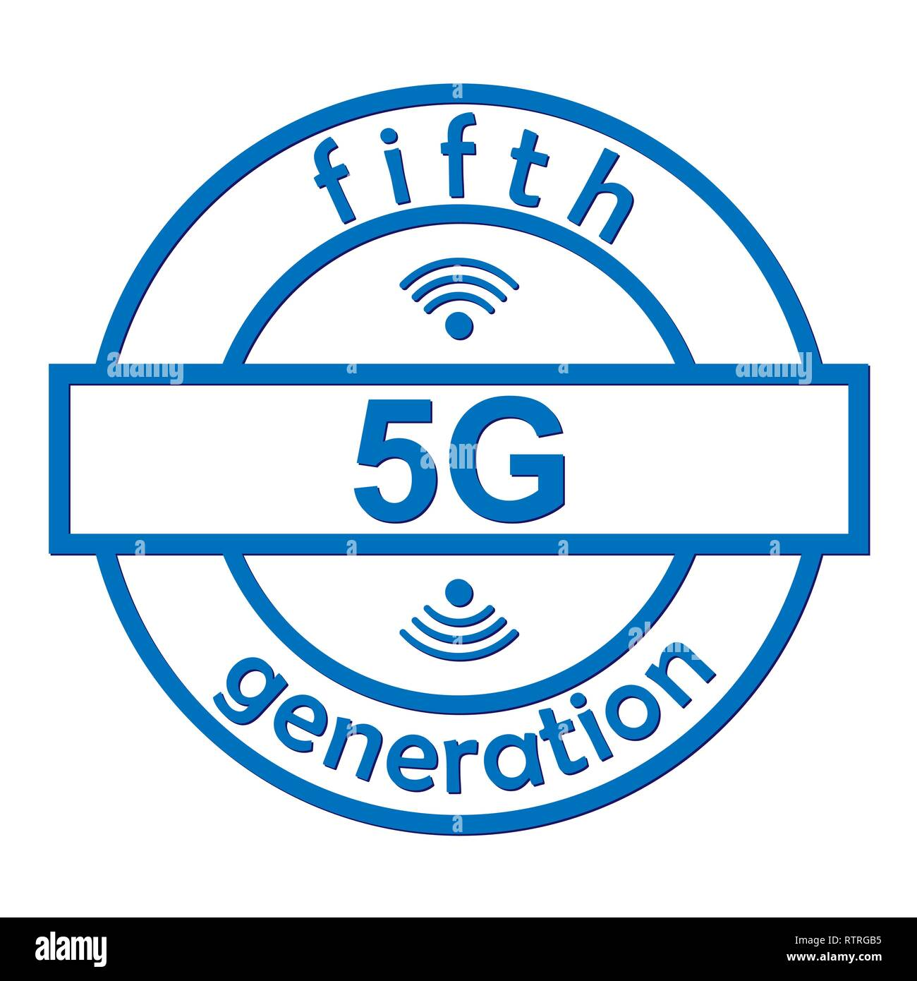 Design with the inscription 5G fifth generation, for design and decoration - Stock Image
