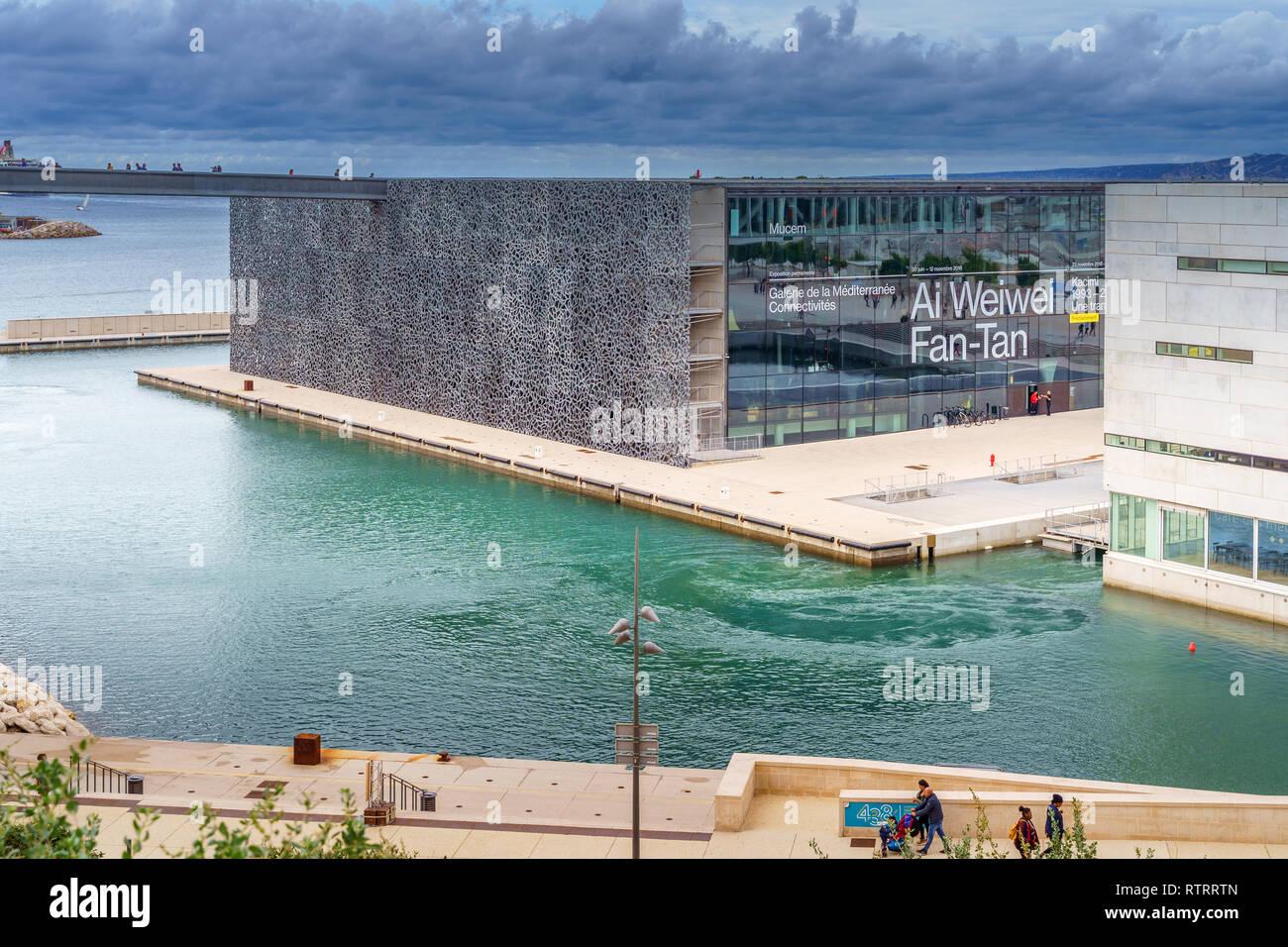 MARSEILLE, FRANCE - 10 Nov 2018 - Museum of European and Mediterranean Civilisations - Stock Image