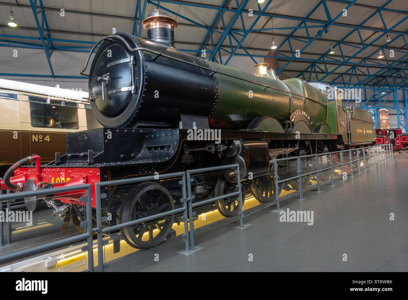 The Star of the West, the Lode Star of the Great Western Railway on display in the National Railway Museum, York, UK. - Stock Image