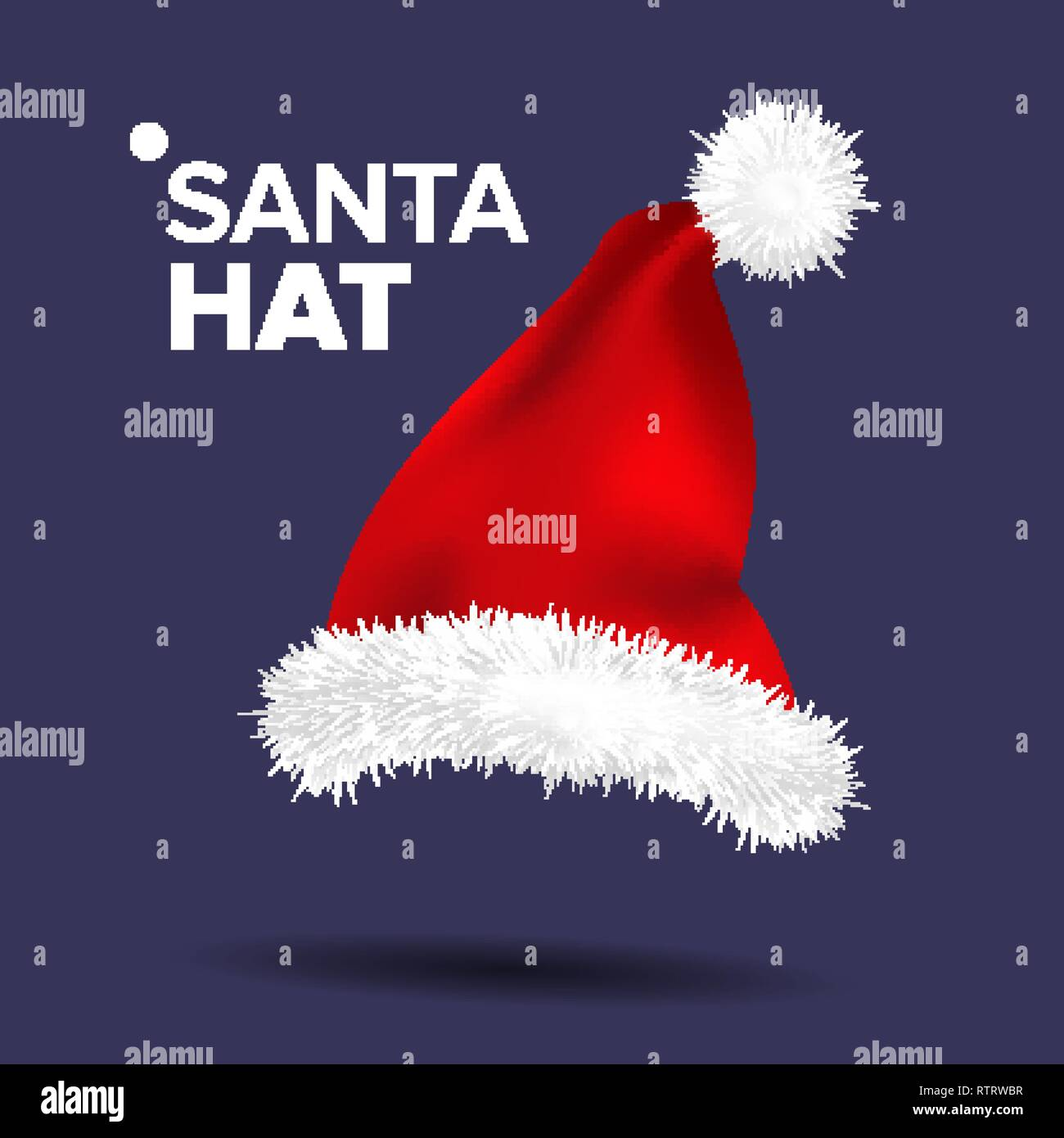 69099abe82492 Red Santa Hat Vector. Traditional Costume. Winter Symbol. December Sign. Santa  Claus Holiday Red And White Cap. Winter Christmas Design. Isolated