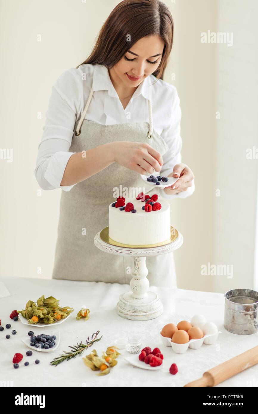 Cake Decorating Experience Popular Decorating Tips Close Up Photo Stock Photo Alamy
