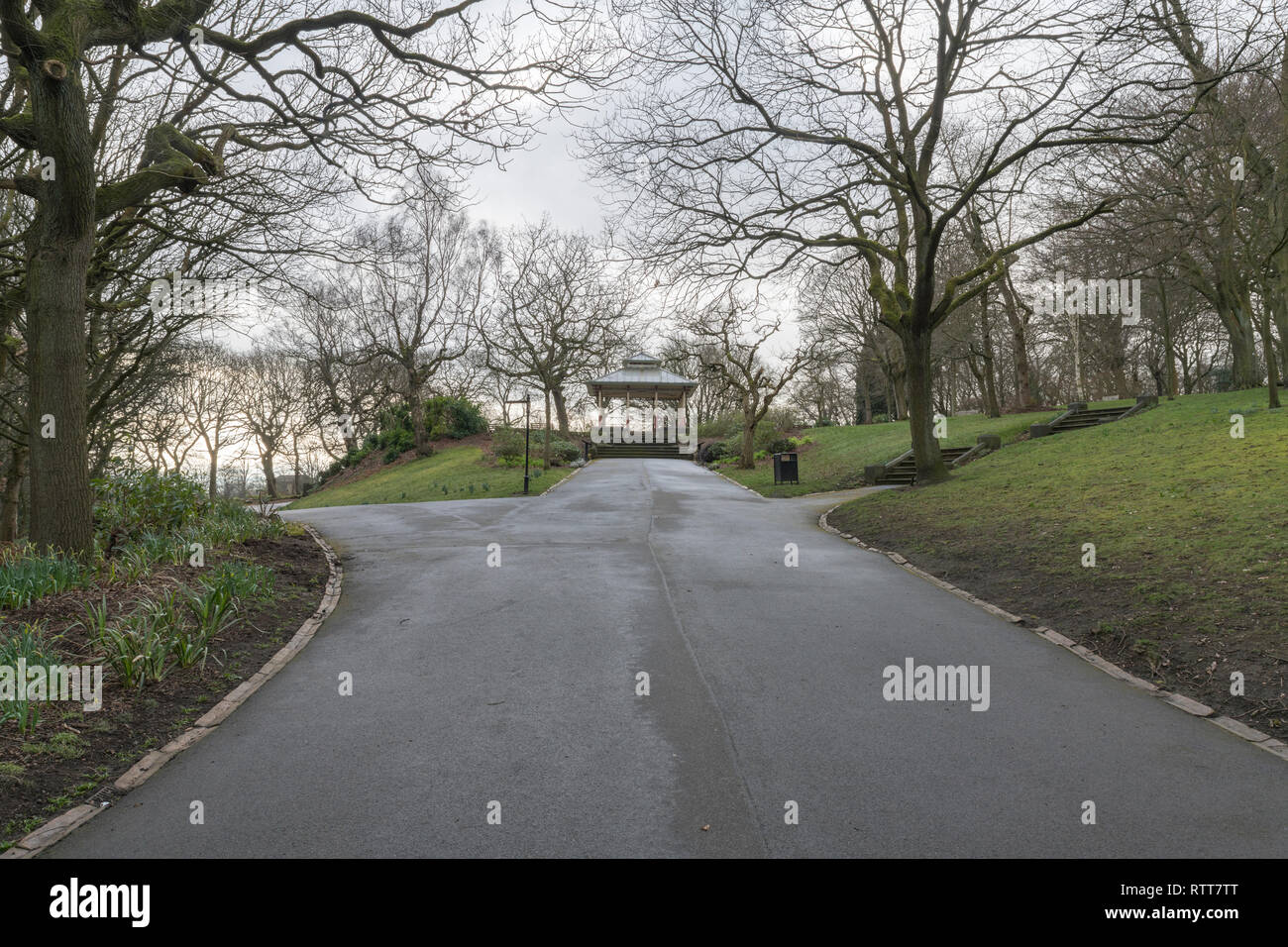 The Bandstand, Beaumont Park, Huddersfield - Stock Image