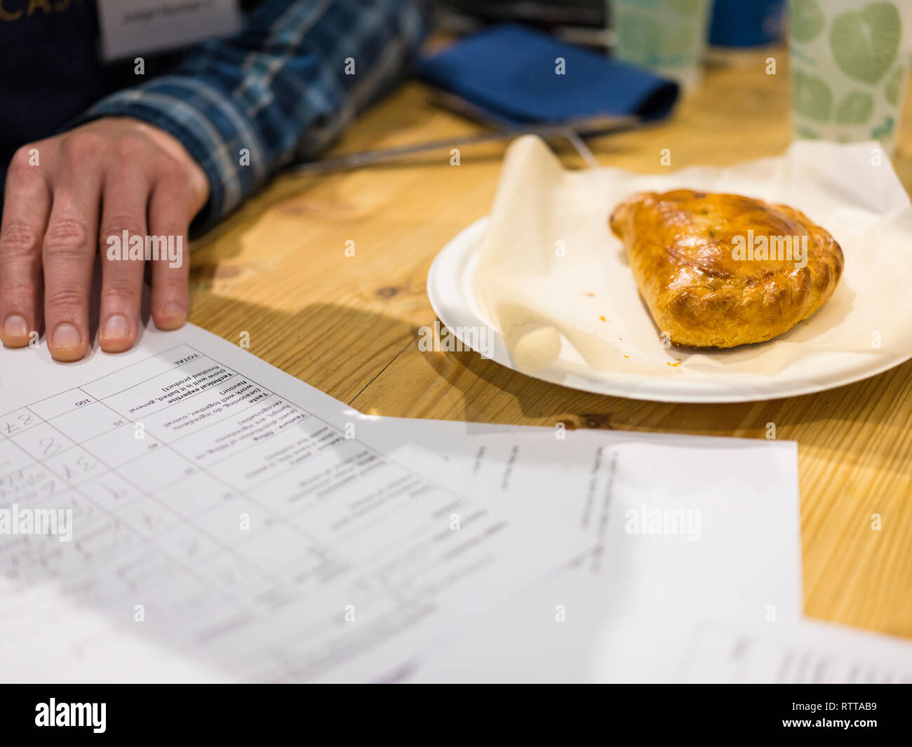 Images from the 2019 World Pasty Championship at the Eden Project, Cornwall. - Stock Image