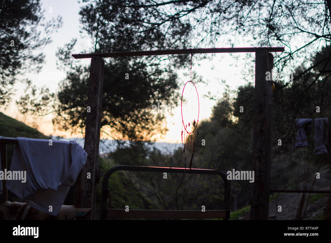 Dreamcatcher at one of the Sacromonte Caves in Granada, Spain - Stock Image