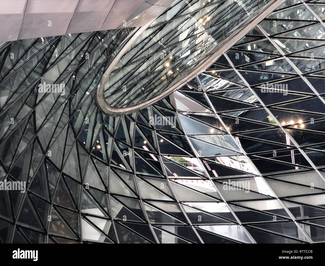 Glass Curtail Wall Parametric Design Stock Photo