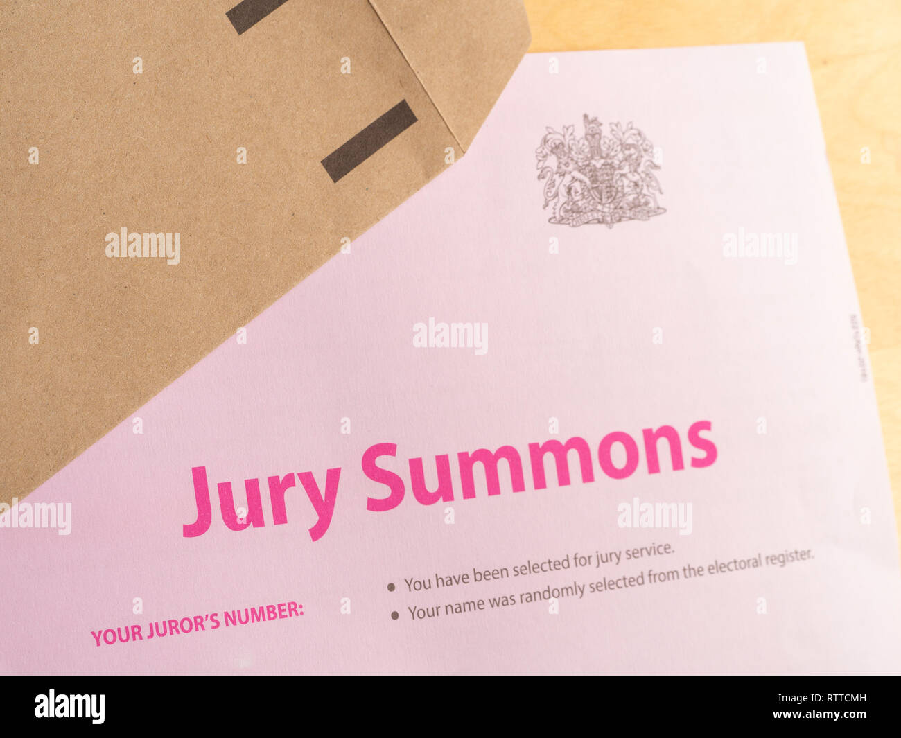Summons Stock Photos & Summons Stock Images - Alamy