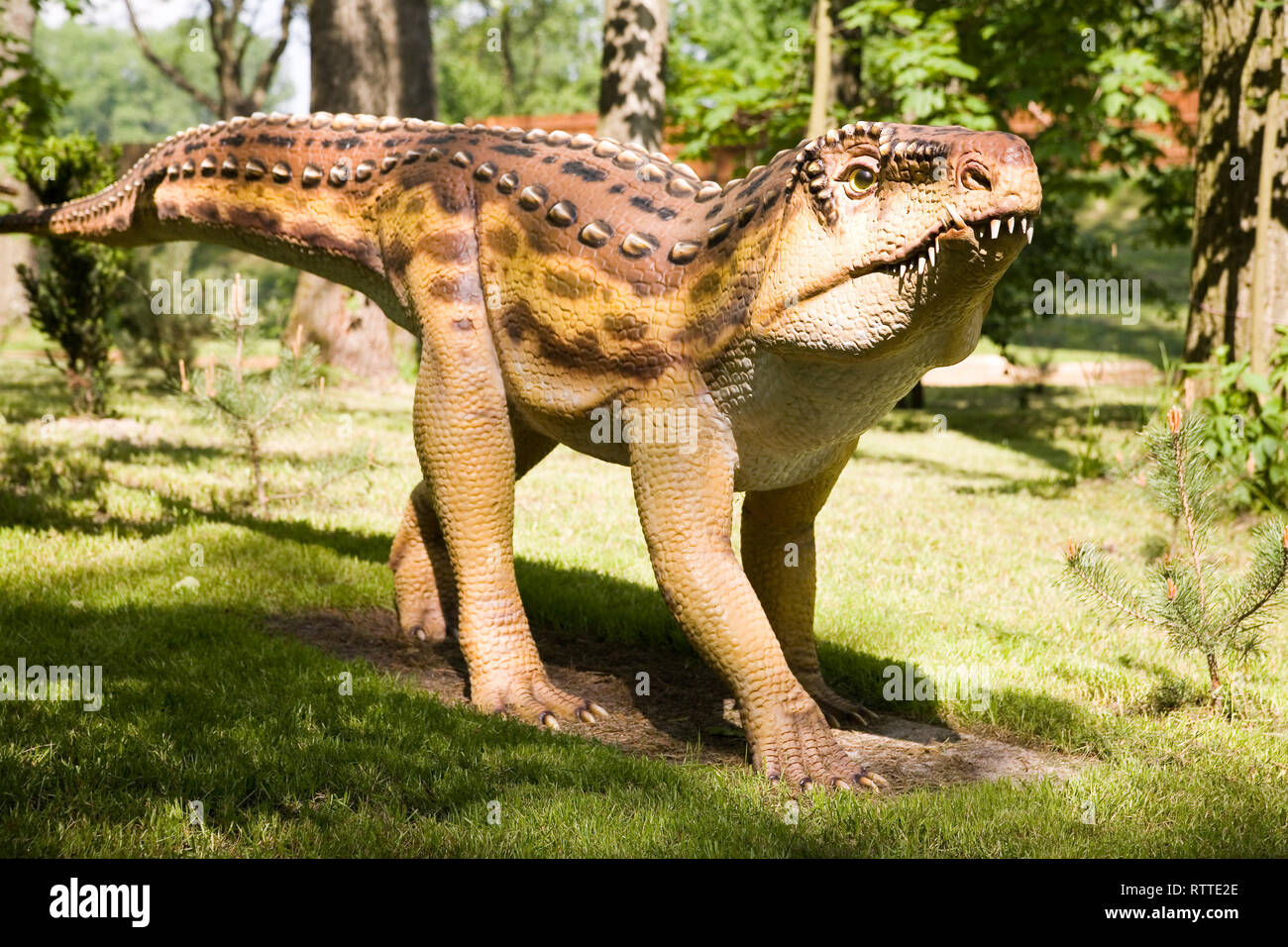 Jurassic park - set of dinosaurs - Ornithosuchus longidens - Stock Image