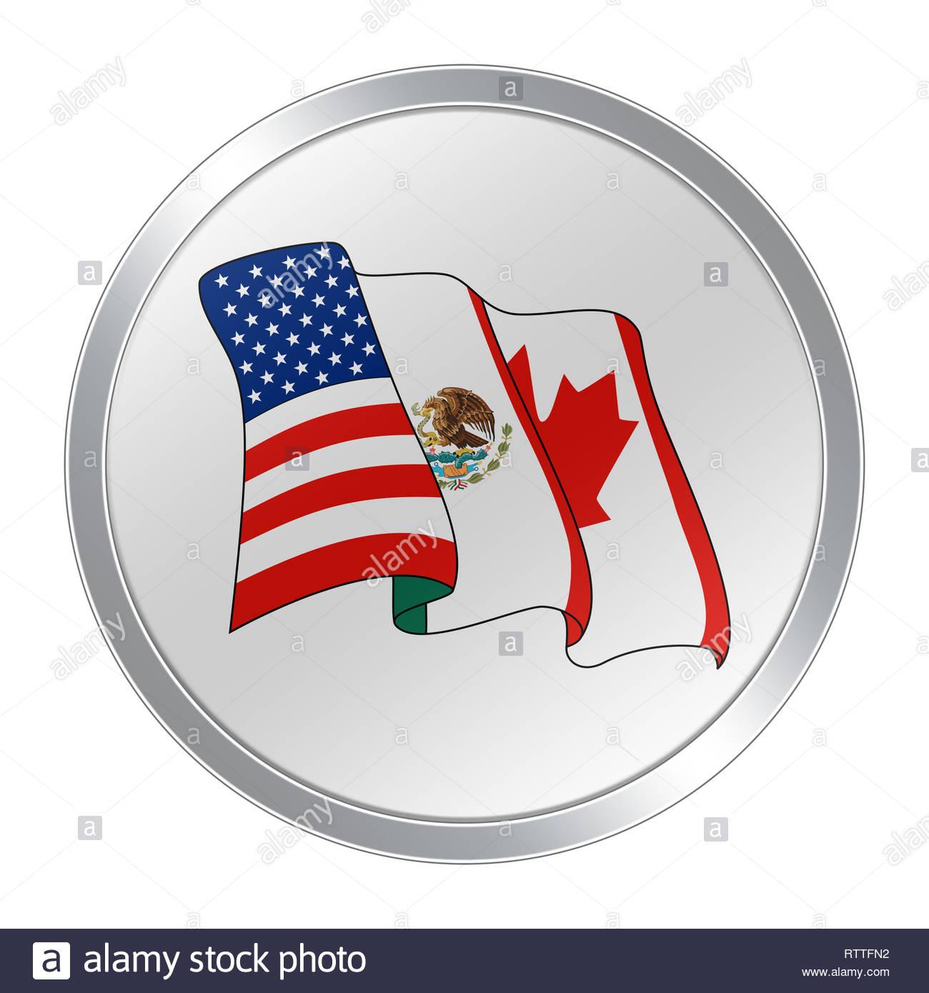 North American Free Trade Agreement NAFTA logo symbol Stock Photo