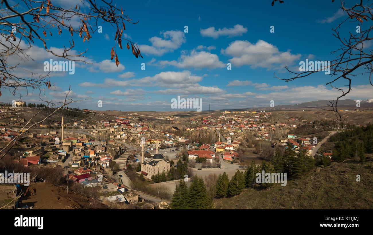 A village in Ihlara valley, Cappadocia, Nevsehir, Turkey - Stock Image