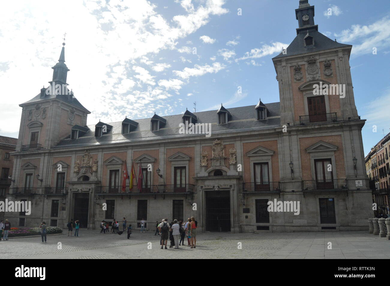 Main Facade of Madrid City Hall Located in the Villa Square Dataded in the Fifteenth Century Is The Medieval Style. Architecture, History, Travel. Oct - Stock Image
