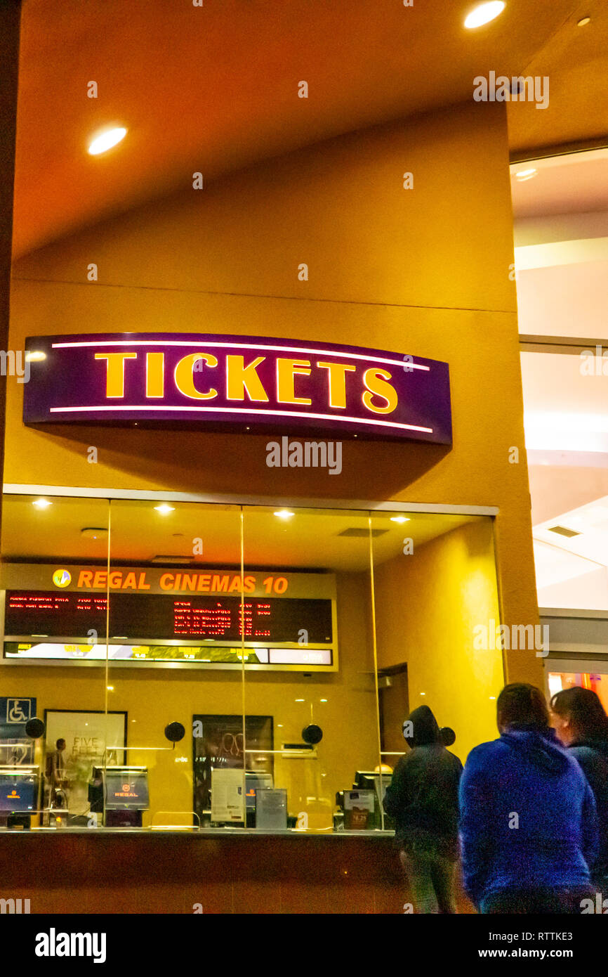 a regal cinema in modesto california at night stock photo alamy alamy