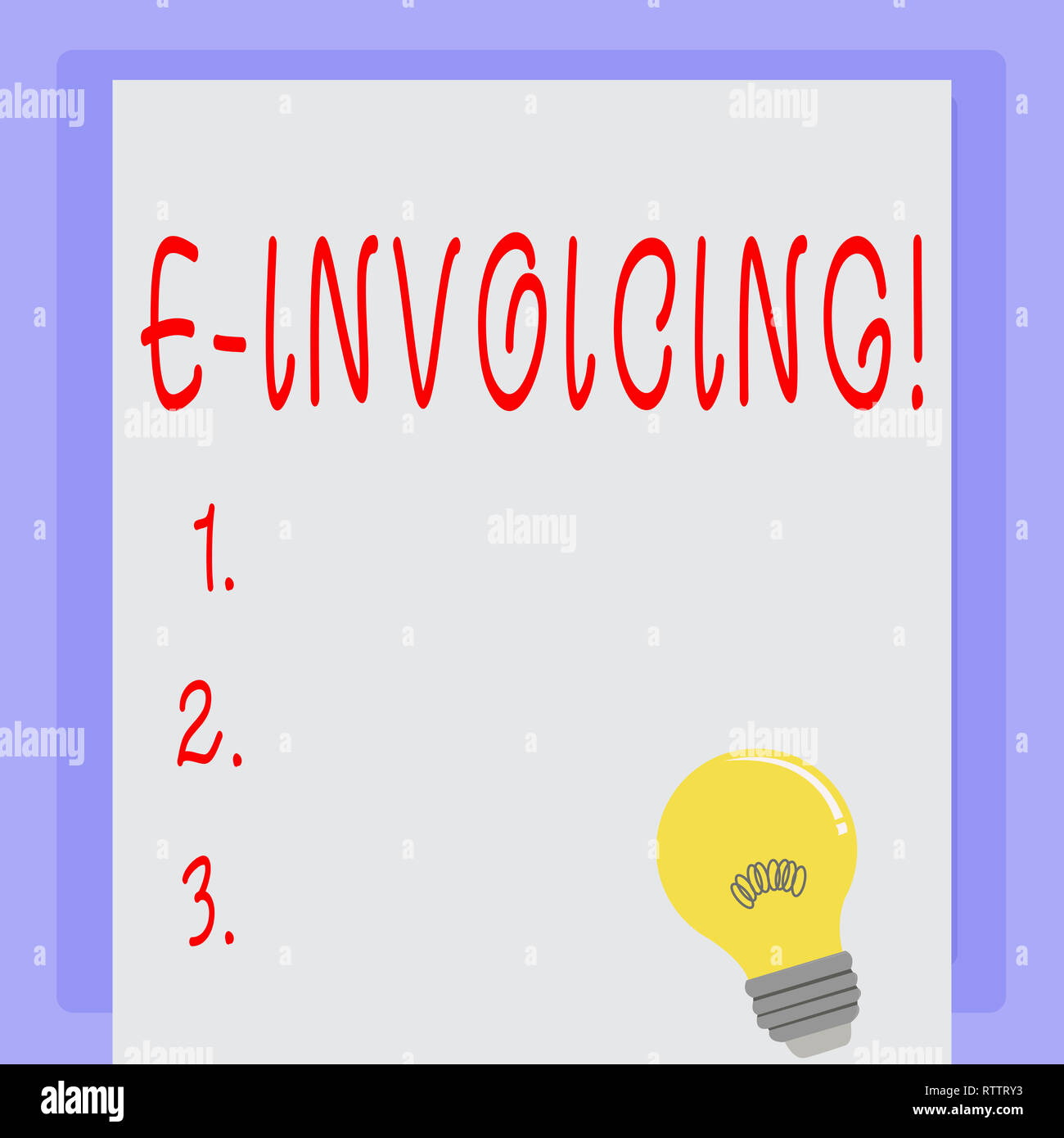 Handwriting text E Invoicing. Concept meaning Company encourages use of digital billing Stock Photo