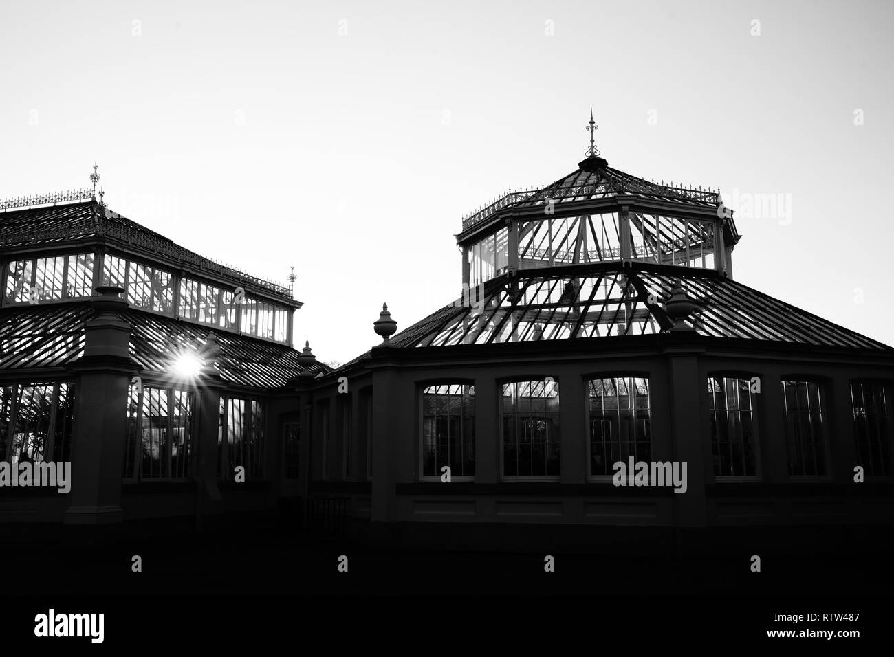 Kew Gardens is a botanical garden in London with the most diverse botanical and mycological collection established as early as 1840 - Stock Image