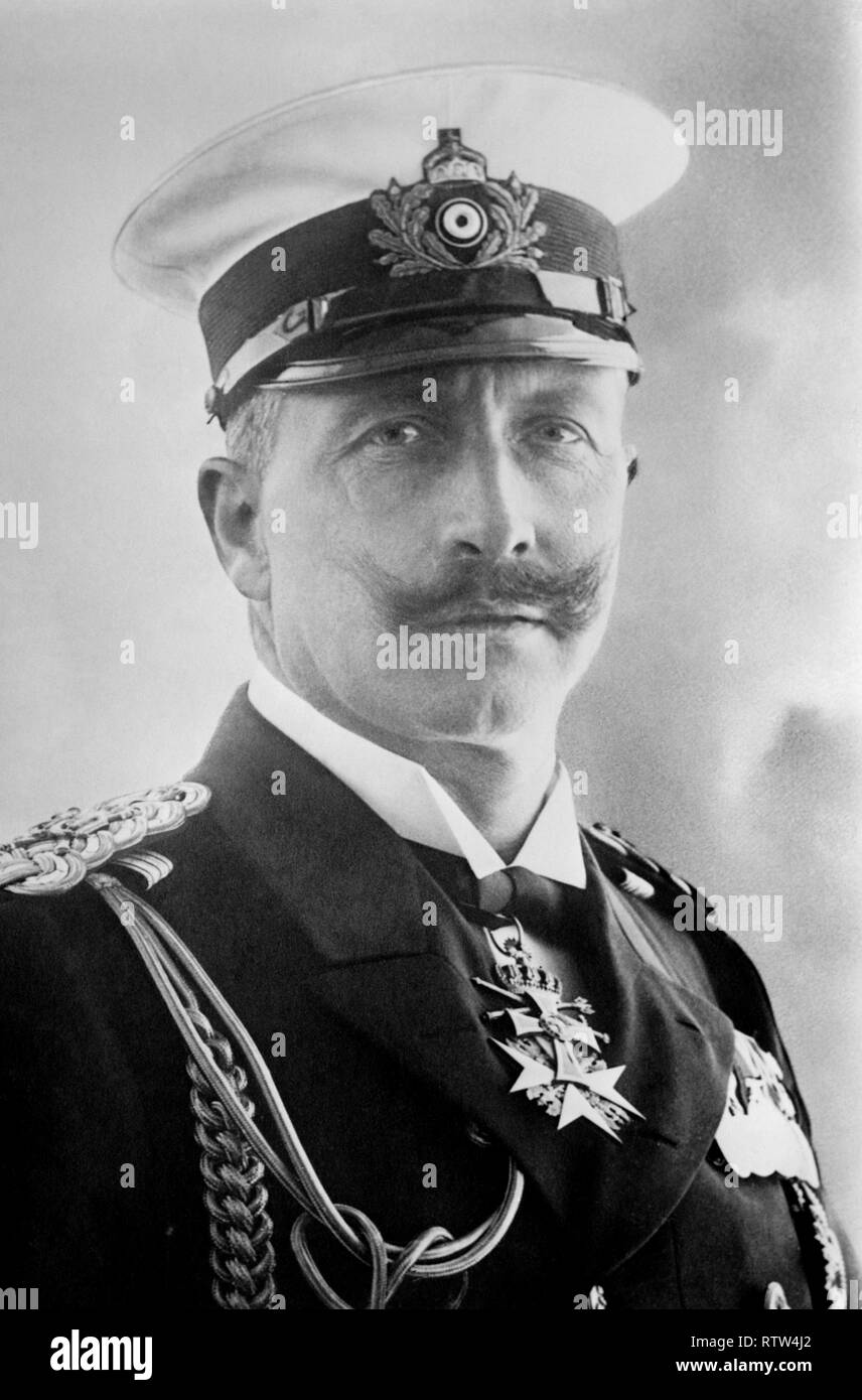 Kaiser Wilhelm II of germany in military uniform circa 1910 - Stock Image