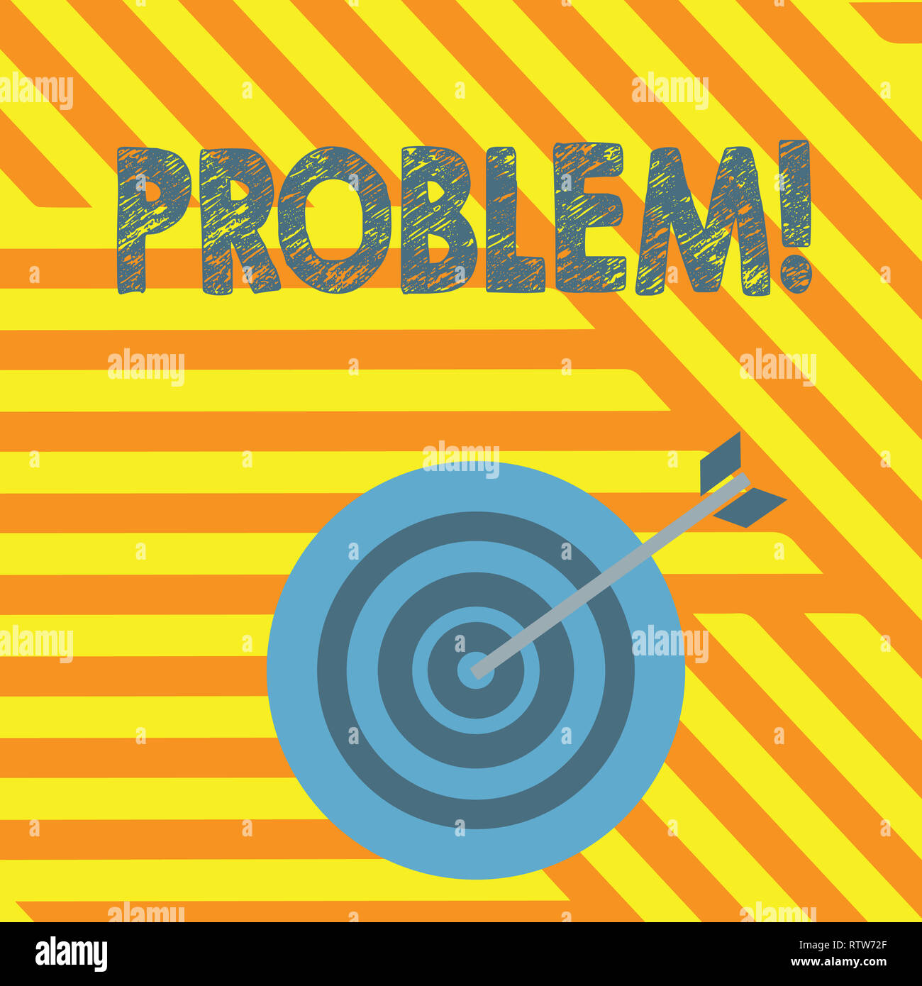 Handwriting text writing Problem. Concept meaning Trouble that need to be solved Difficult Situation Complication - Stock Image