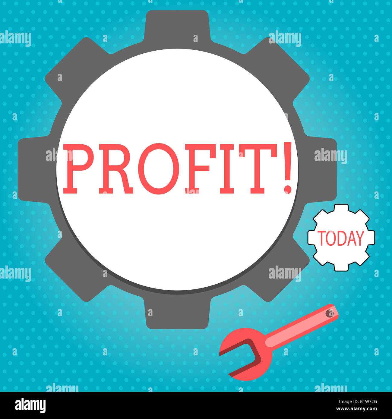 Text sign showing Profit. Conceptual photo Earned Money Payment Salary Business Revenue - Stock Image