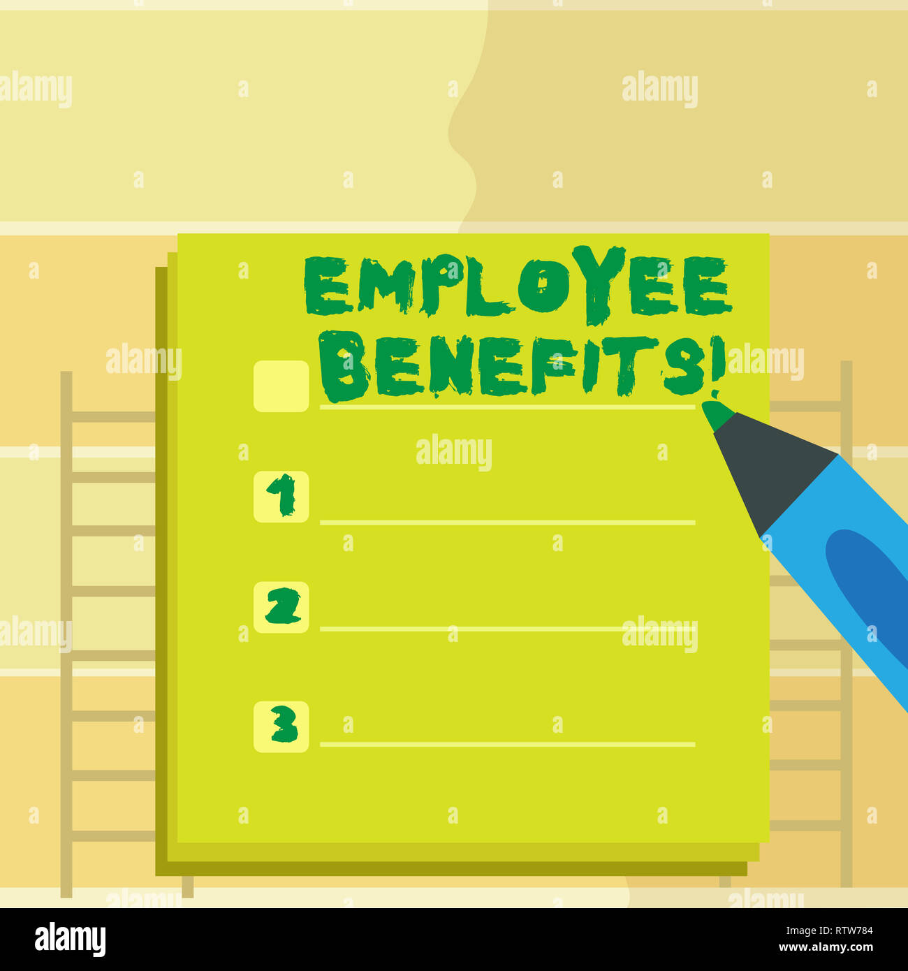 Text sign showing Employee Benefits  Conceptual photo list