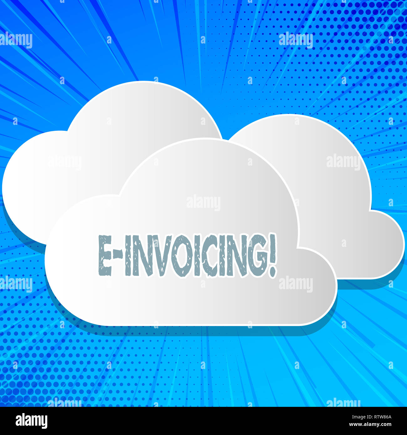 Word writing text E Invoicing. Business concept for Company encourages use of digital billing Stock Photo