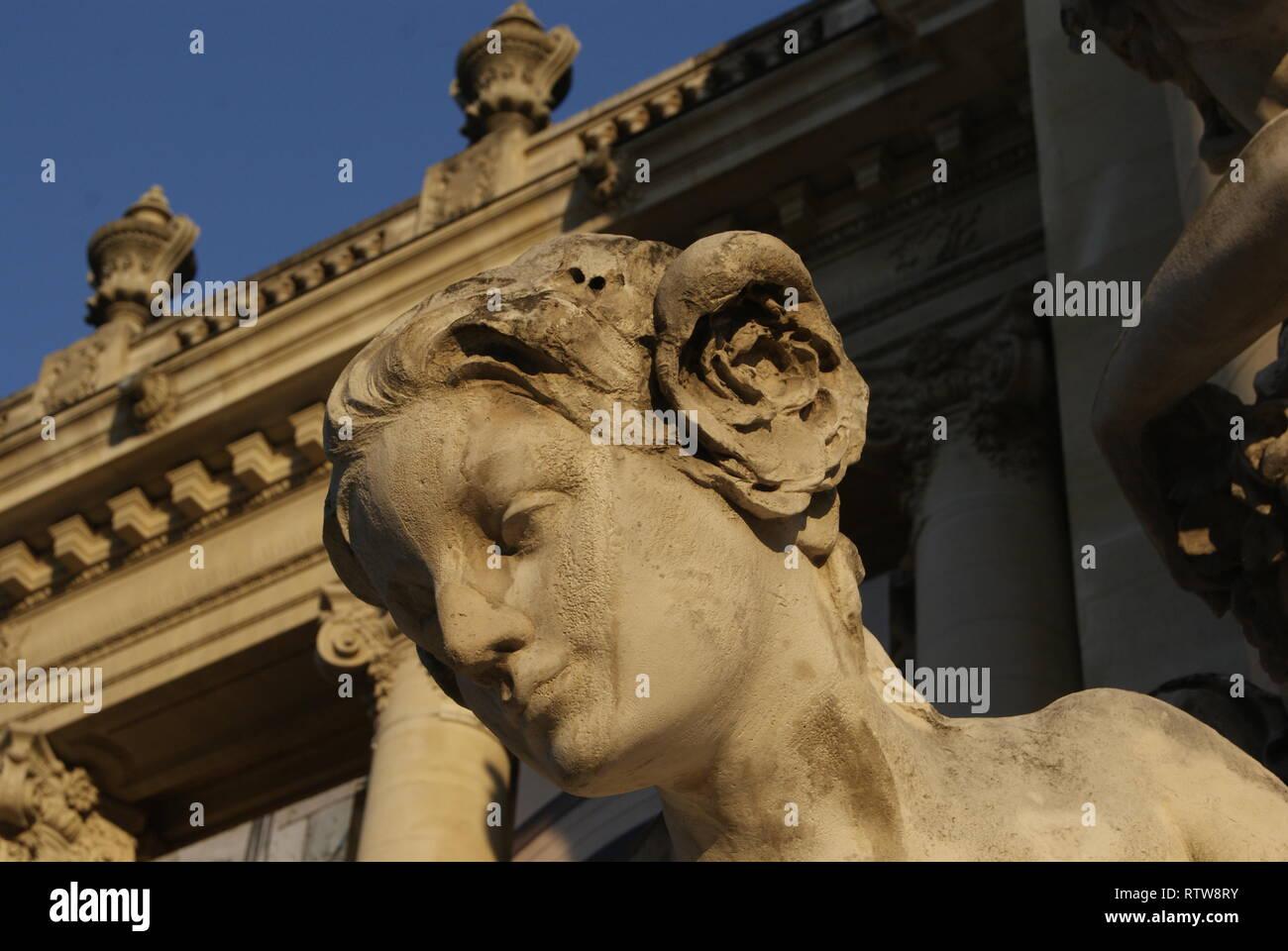 sculpture à Paris Stock Photo