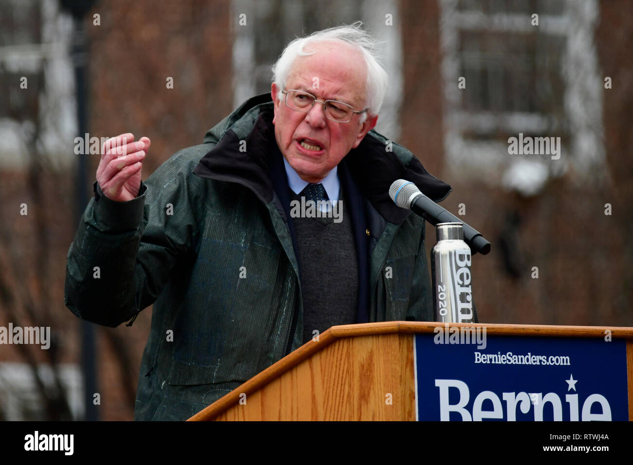 New York, NY, USA. 2nd March, 2019. Bernie Sanders (I-VT) kicks-off his campaign for the 2020 U.S. Presidential Elections on a Democratic ticket at a rally at Brooklyn College, in Brooklyn, NY on March 2, 2019. Credit: OOgImages/Alamy Live News - Stock Image