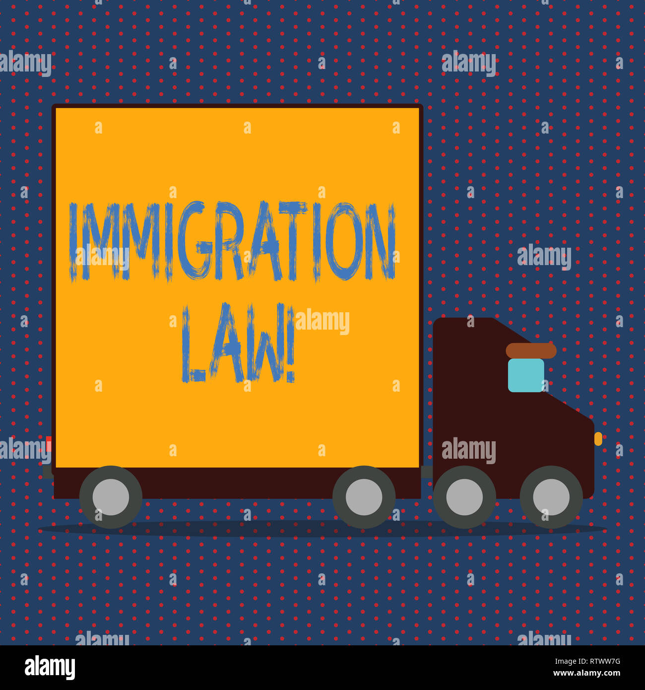 Word writing text Immigration Law  Business concept for