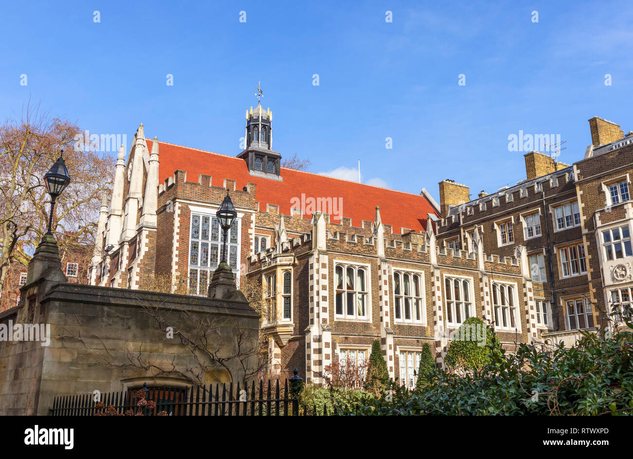 Inns of Court: Elizabethan Middle Temple Hall, Middle Temple Lane, London EC4 and garden - Stock Image