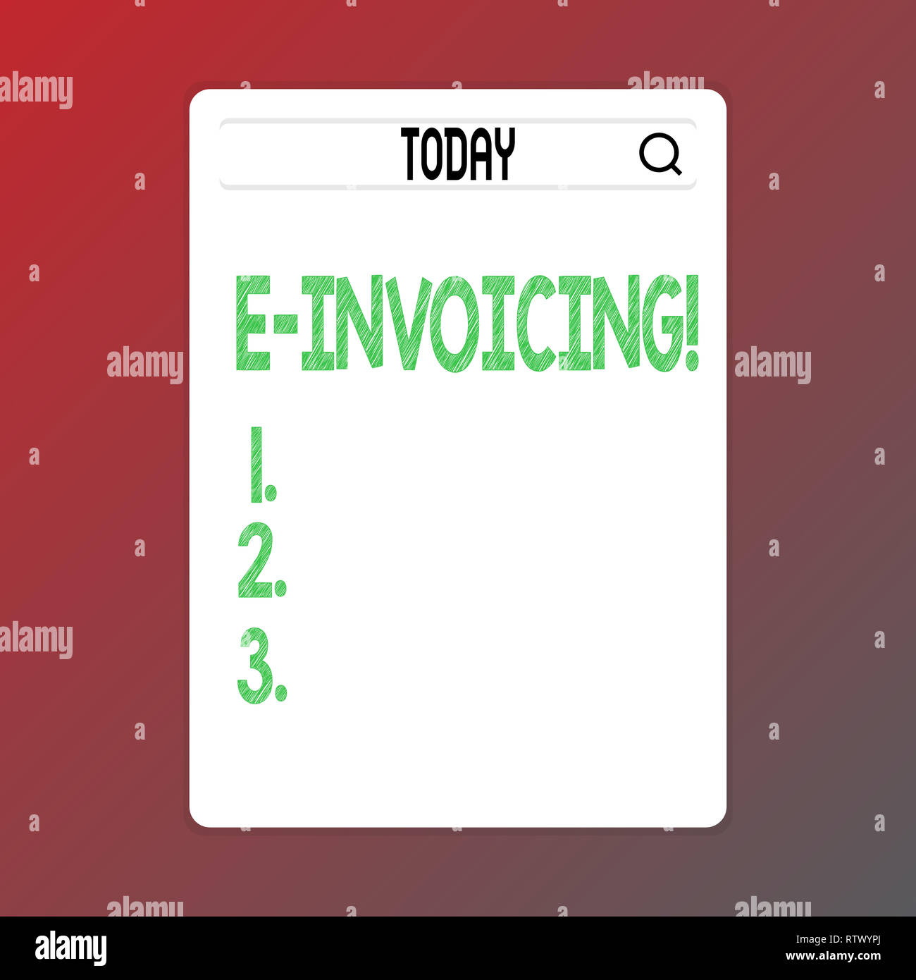 Writing note showing E Invoicing. Business photo showcasing Company encourages use of digital billing Stock Photo