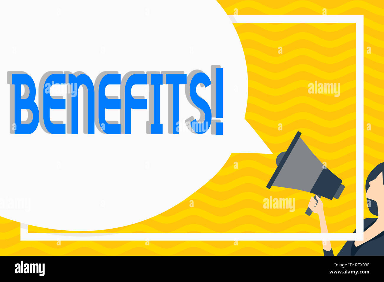 Conceptual hand writing showing Benefits  Business photo