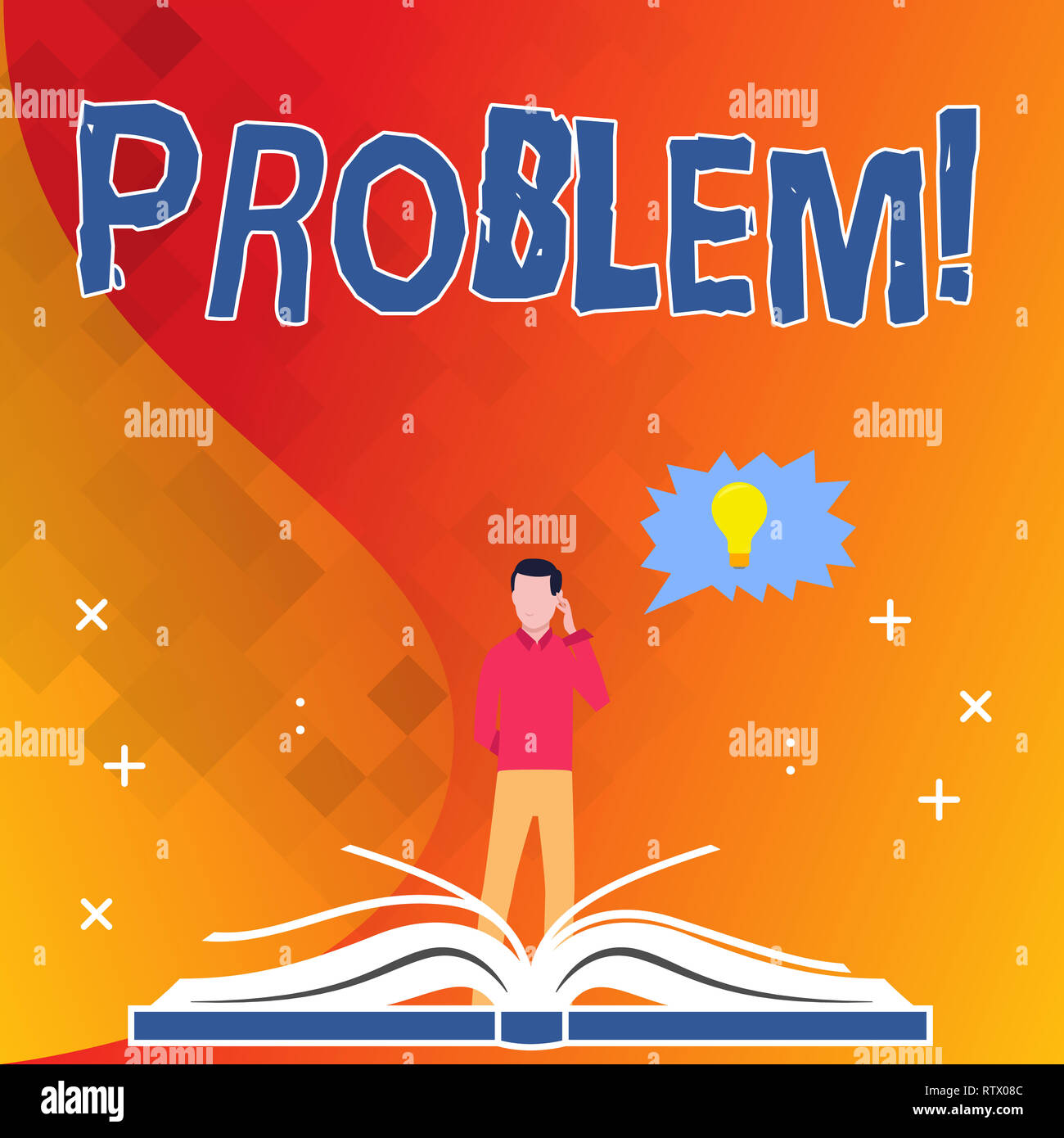 Text sign showing Problem. Conceptual photo Trouble that need to be solved Difficult Situation Complication - Stock Image
