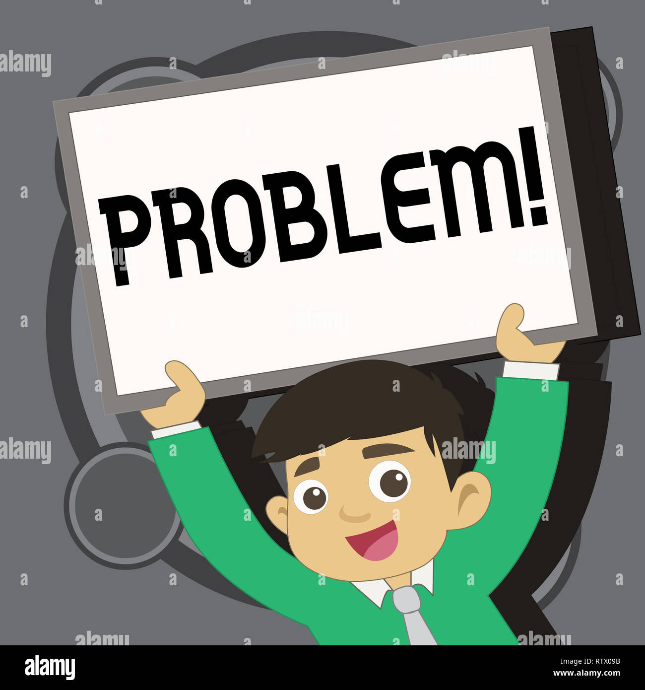 Writing note showing Problem. Business photo showcasing Trouble that need to be solved Difficult Situation Complication - Stock Image