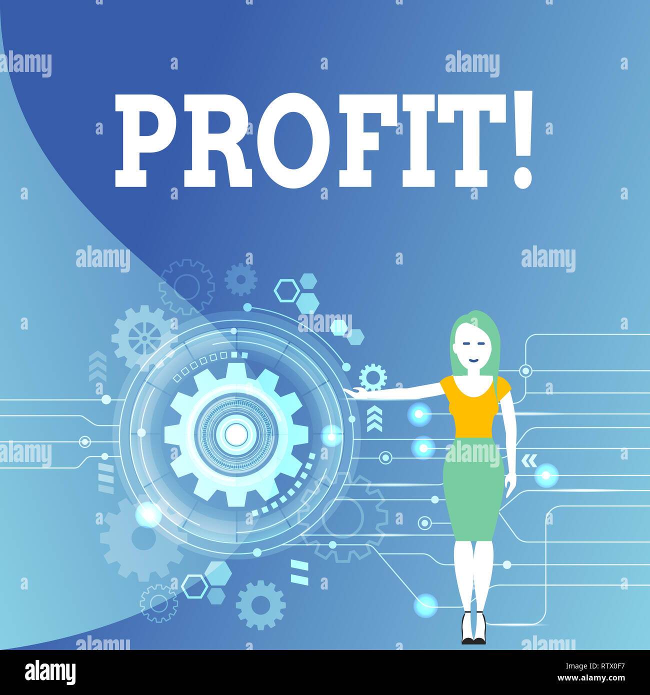 Writing note showing Profit. Business photo showcasing Earned Money Payment Salary Business Revenue - Stock Image