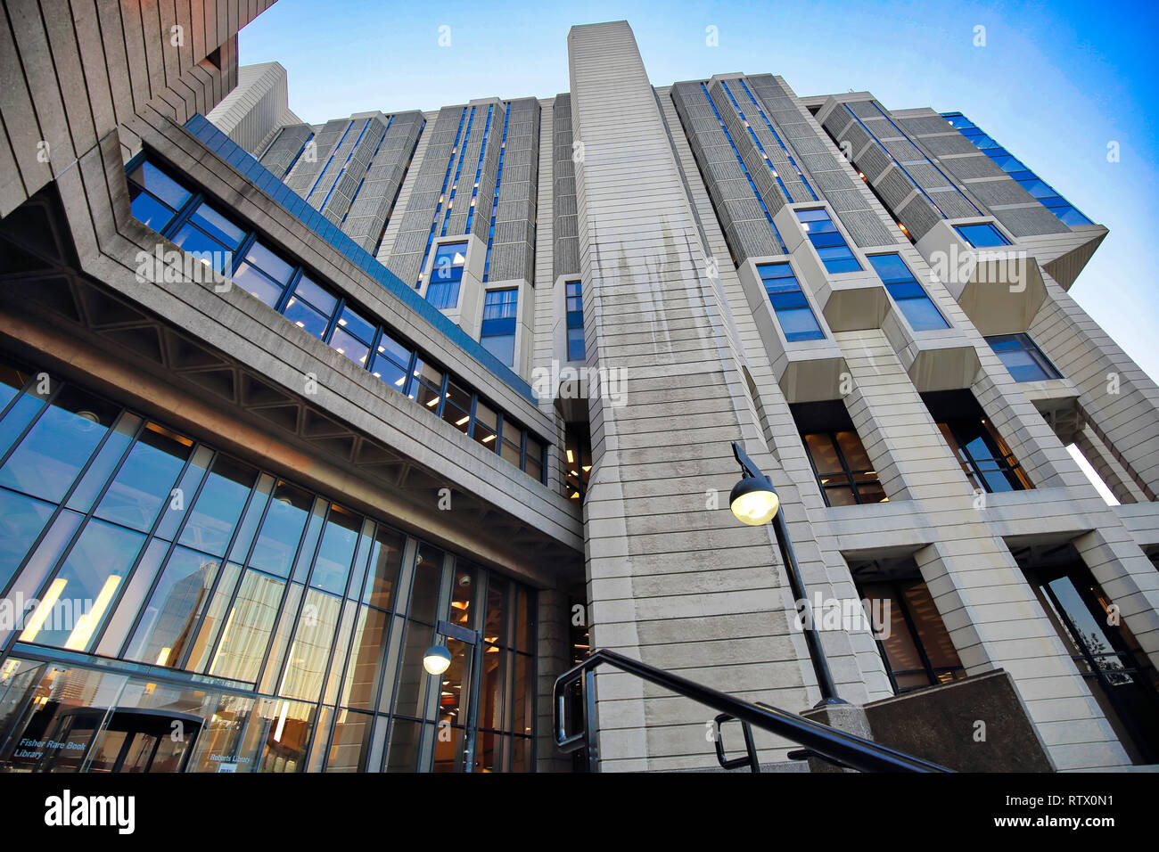 Toronto, Canada-March 1, 2018: Thomas Fisher Rare Book Library building in the University of Toronto, the largest repository of publicly accessible ra - Stock Image