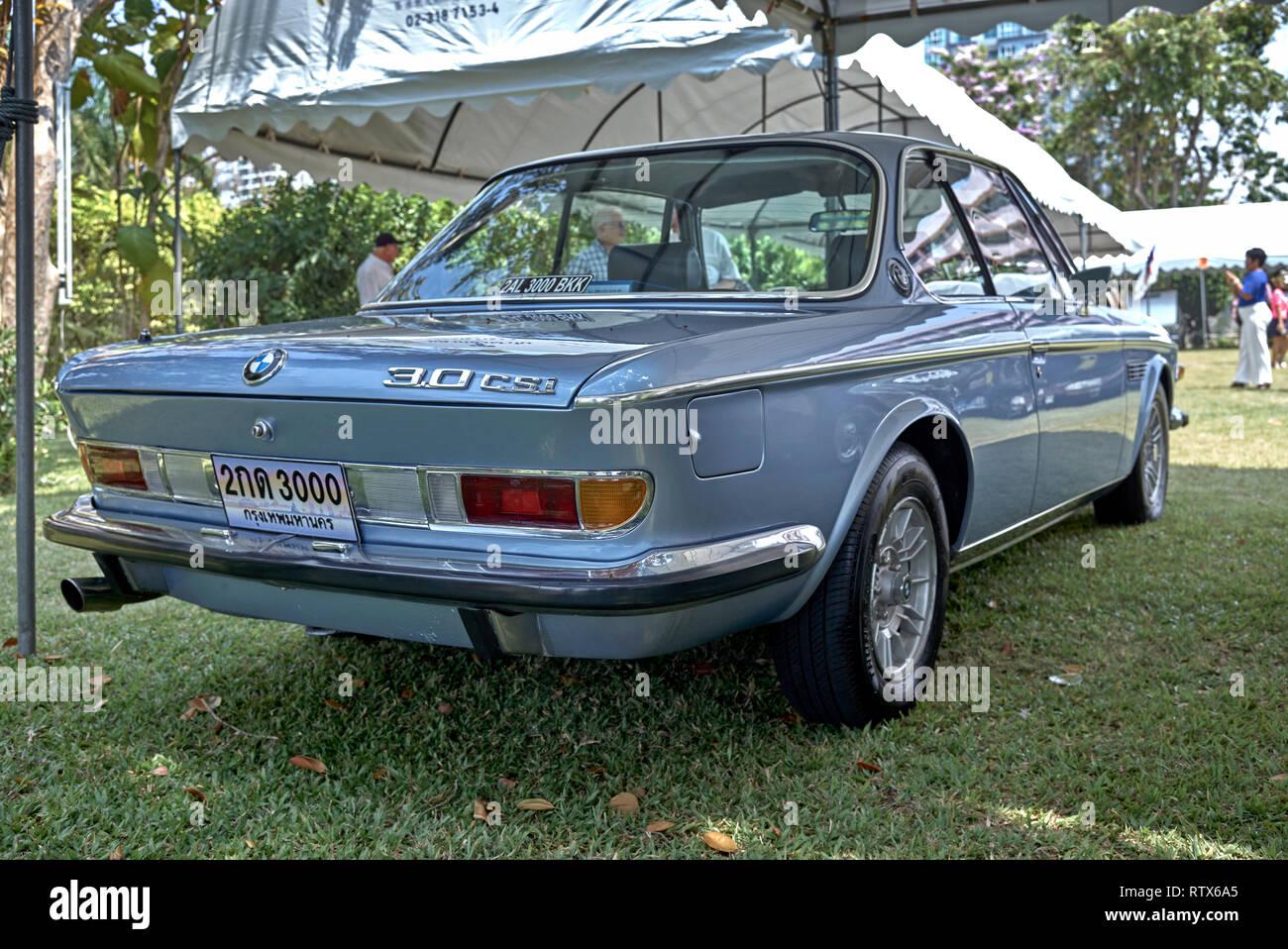 BMW 3.0 CSI classic vintage 2 door sports saloon 1974 - Stock Image