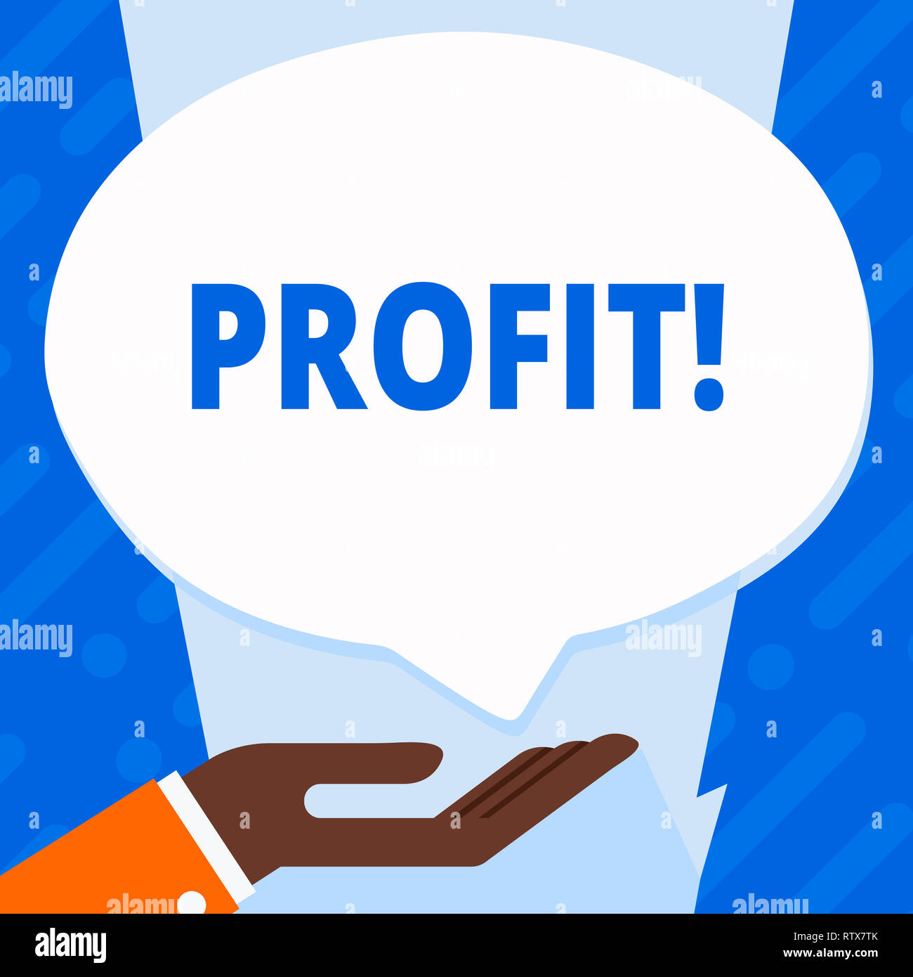 Word writing text Profit. Business concept for Earned Money Payment Salary Business Revenue - Stock Image