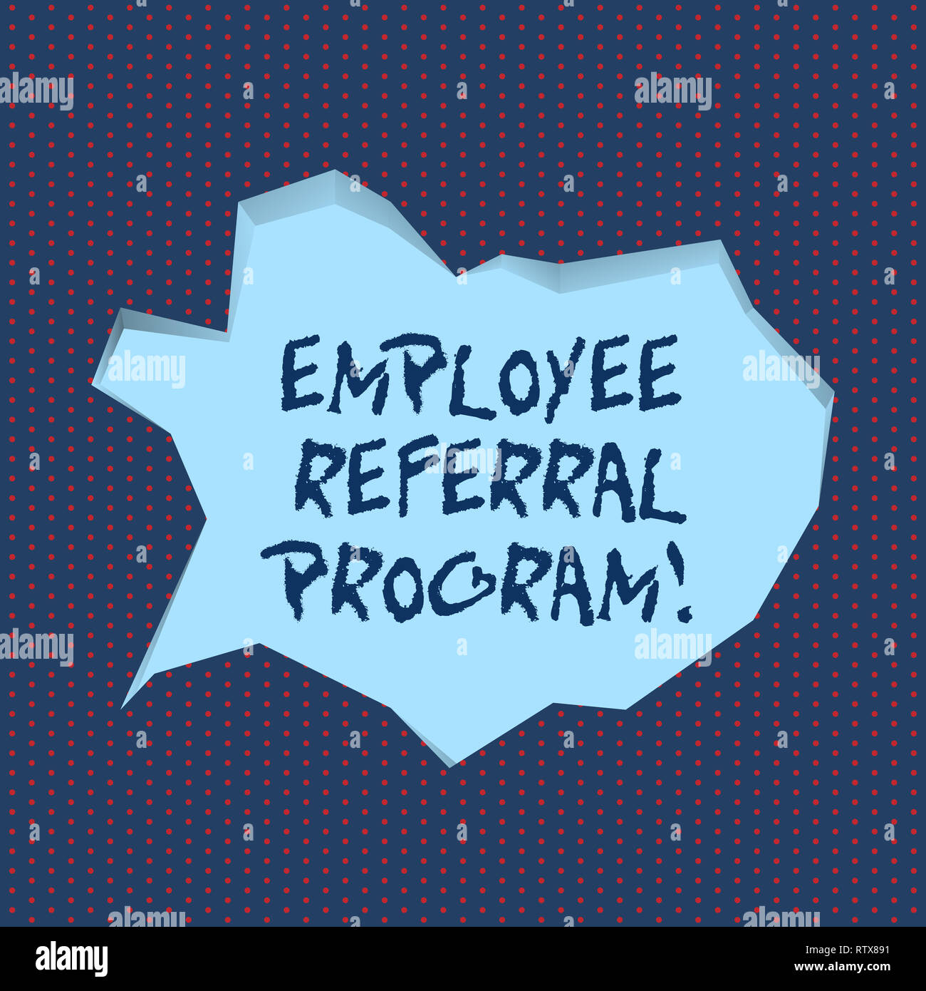 Handwriting text writing Employee Referral Program  Concept